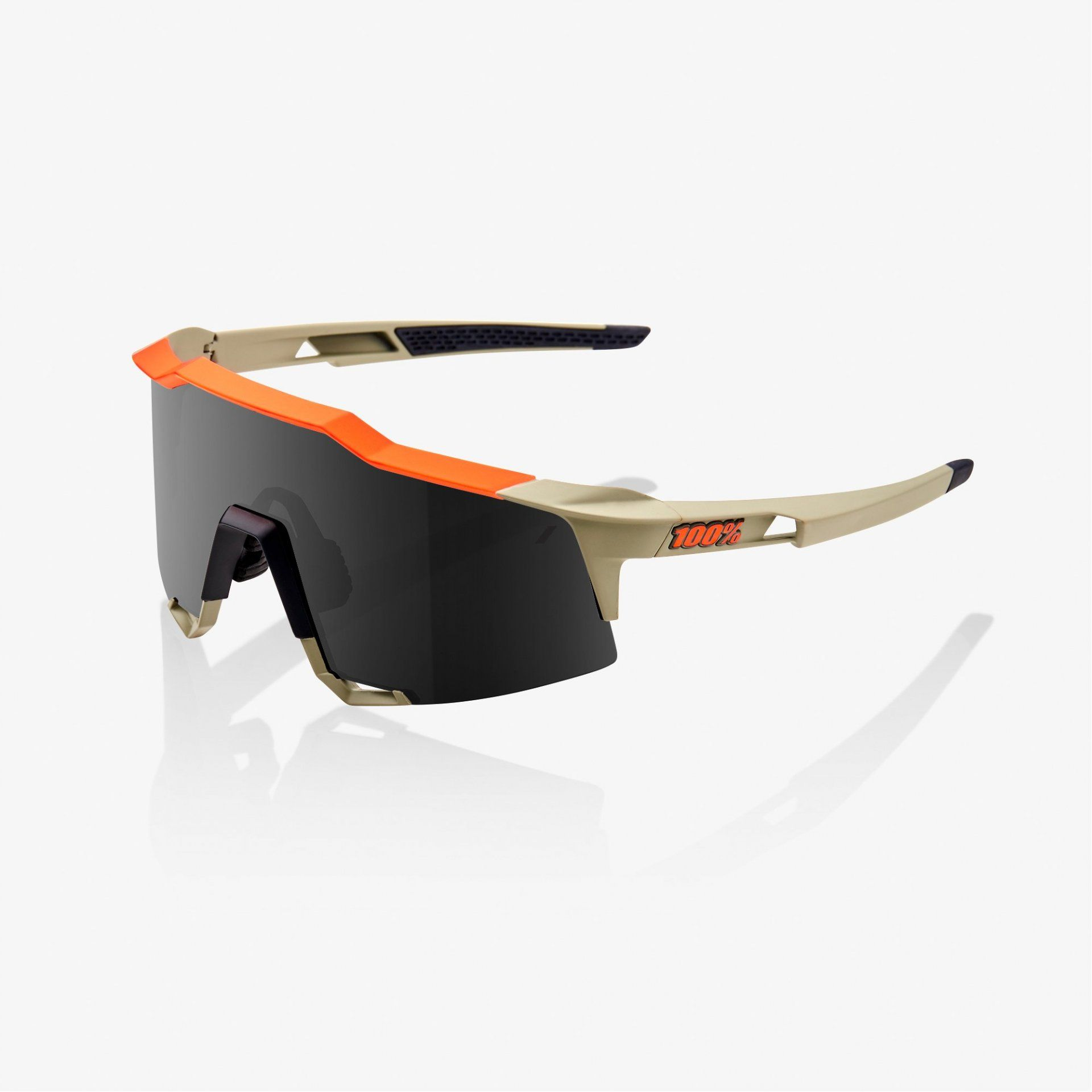 OKULARY 100% SPEEDCRAFT SOFT TACT QUICKSAND SMOKE
