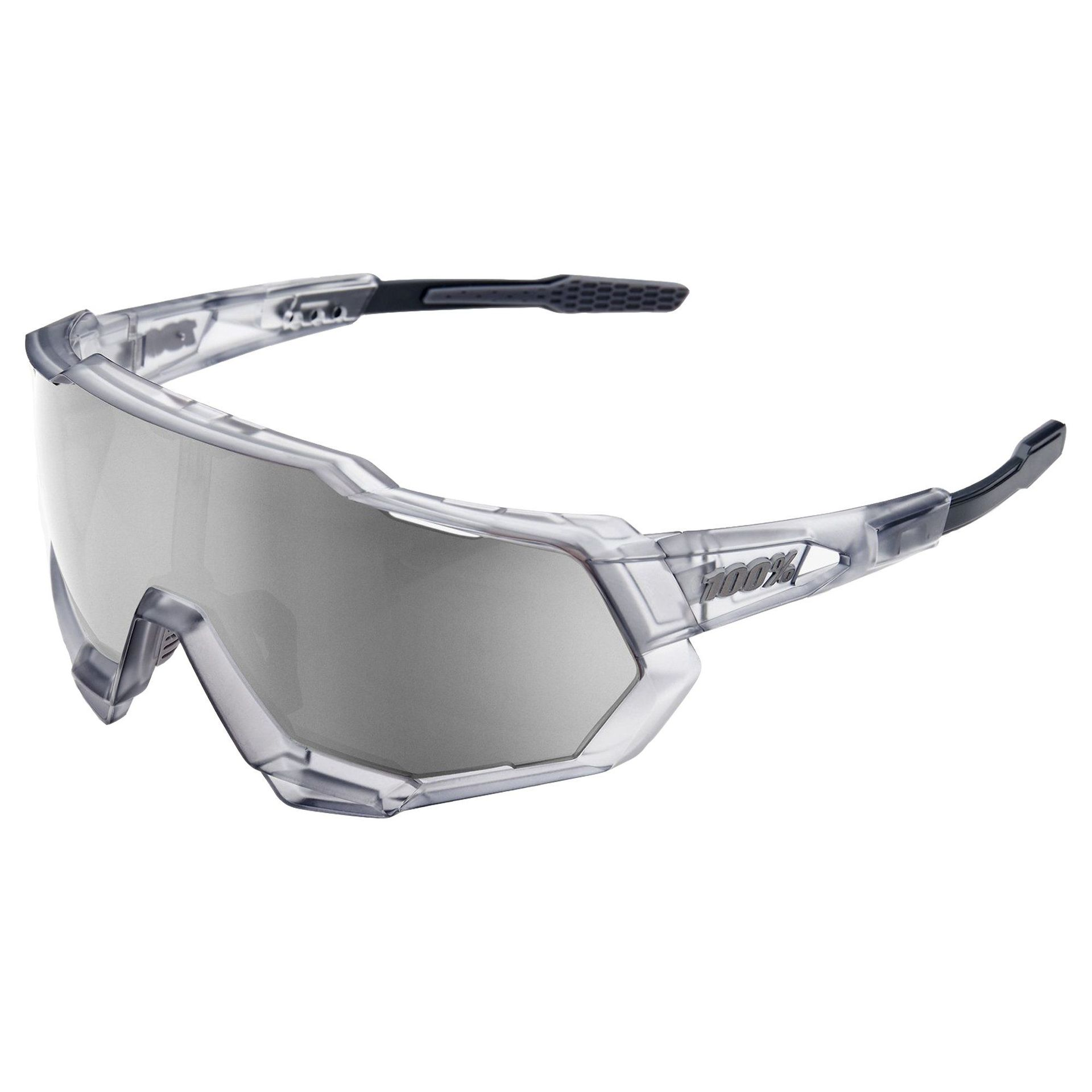 OKULARY 100% SPEEDTRAP MATTE TRANSLUCENT CRYSTAL GREY|HIPER SILVER 1