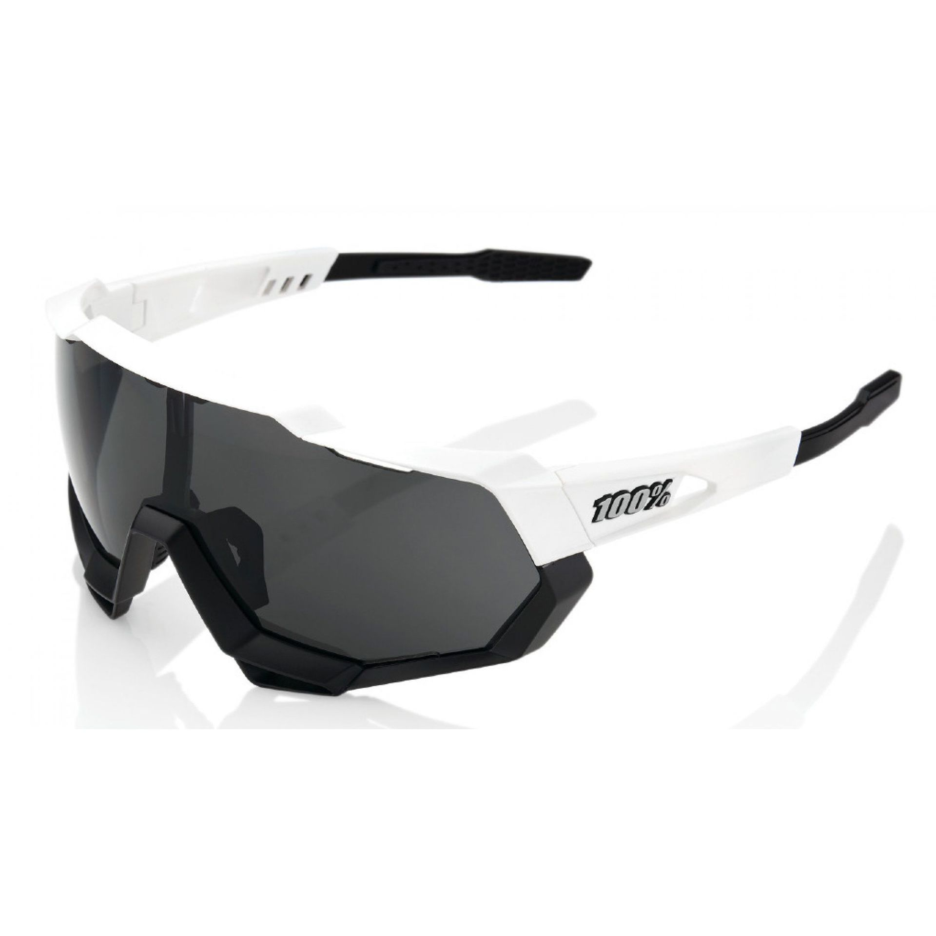 OKULARY 100% SPEEDTRAP MATTE WHITE|BLACK SMOKE 1