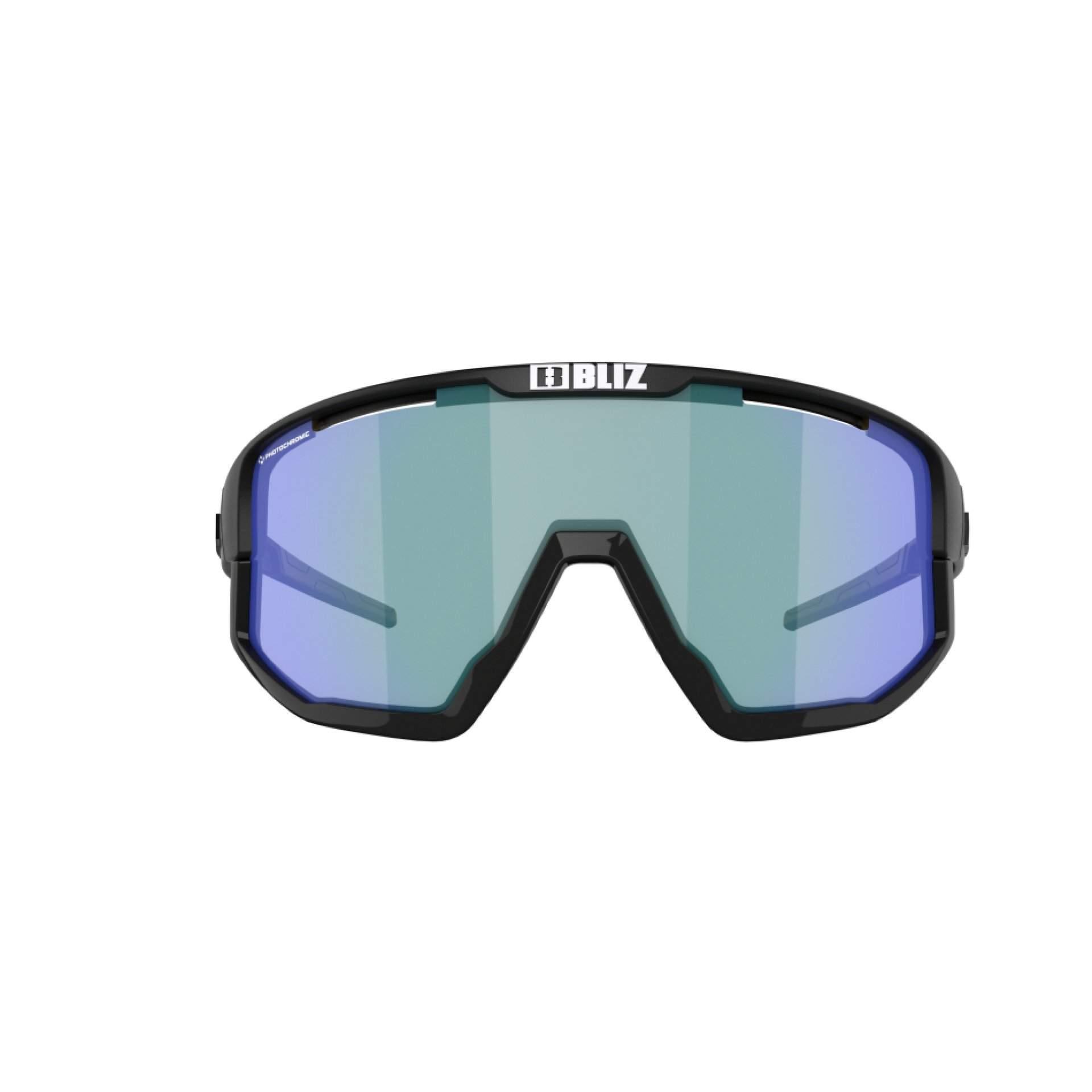 OKULARY BLIZ VISION NANO MATT BLACK|BROWN W BLUE MULTI 52101|13P Z PRZODU