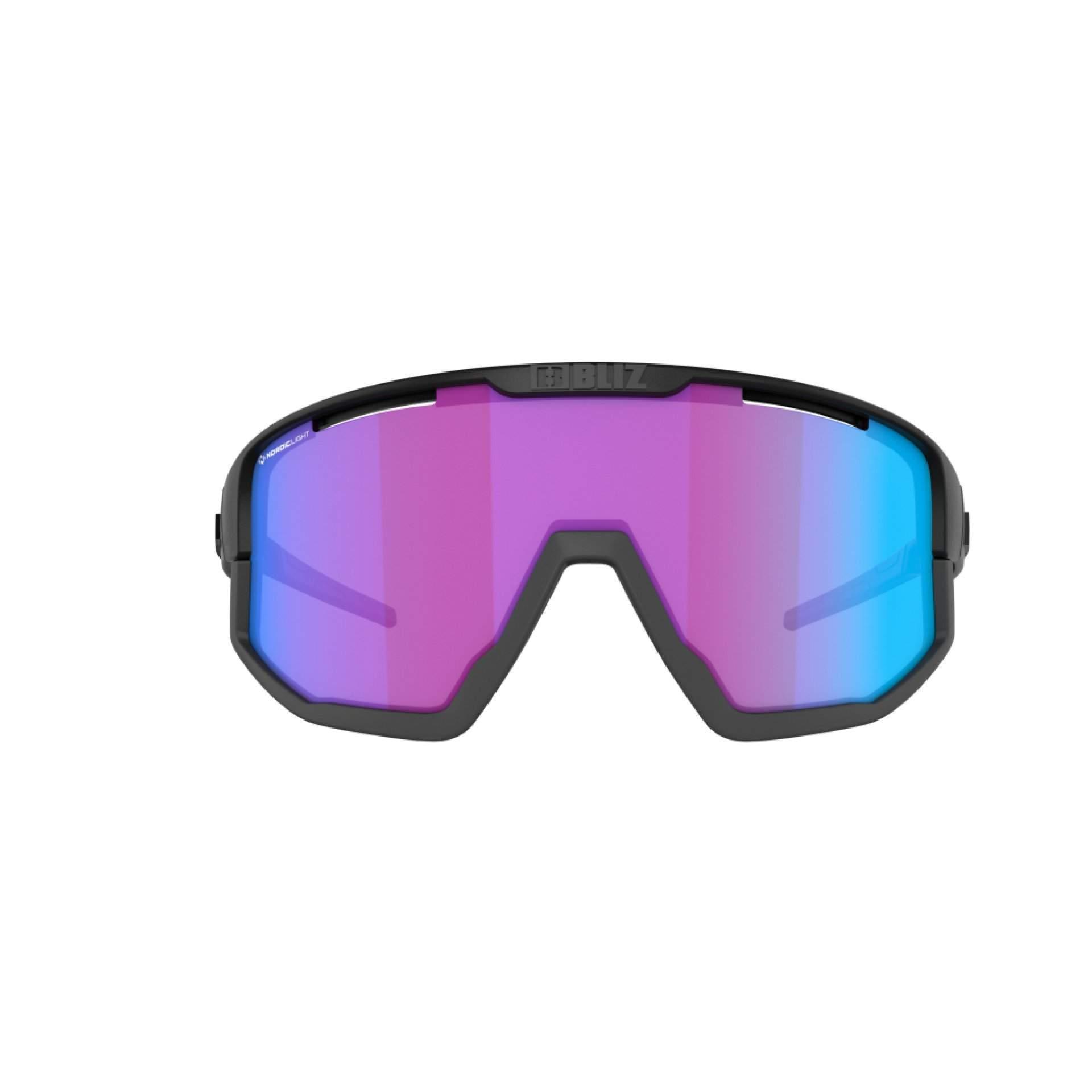 OKULARY BLIZ VISION NANO MATT BLACK NORDIC LIGHT BEGONIA 52101 14N Z PRZODU