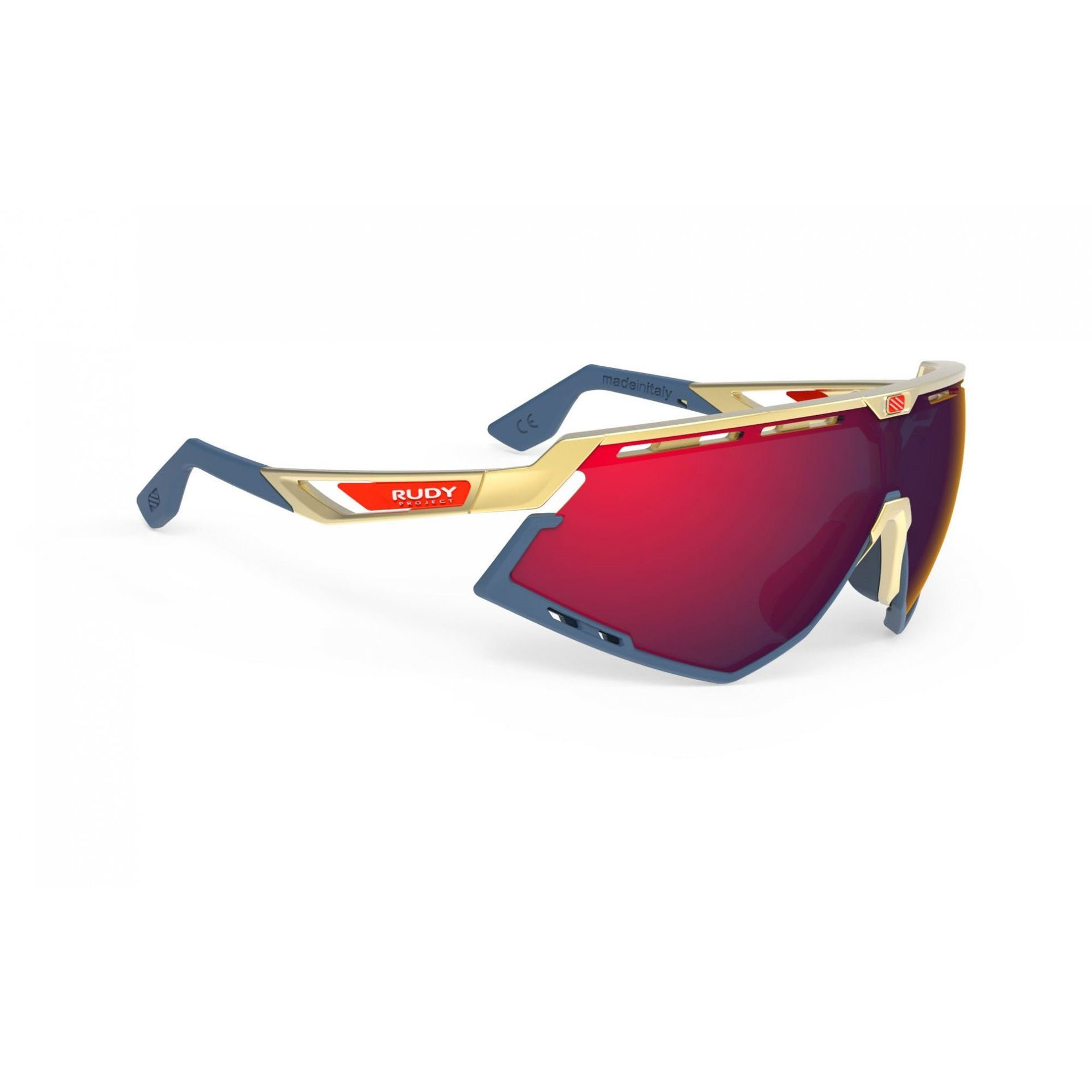 OKULARY RUDY PROJECT DEFENDER GOLD|NAVY + MULTILASER RED SP523805 1