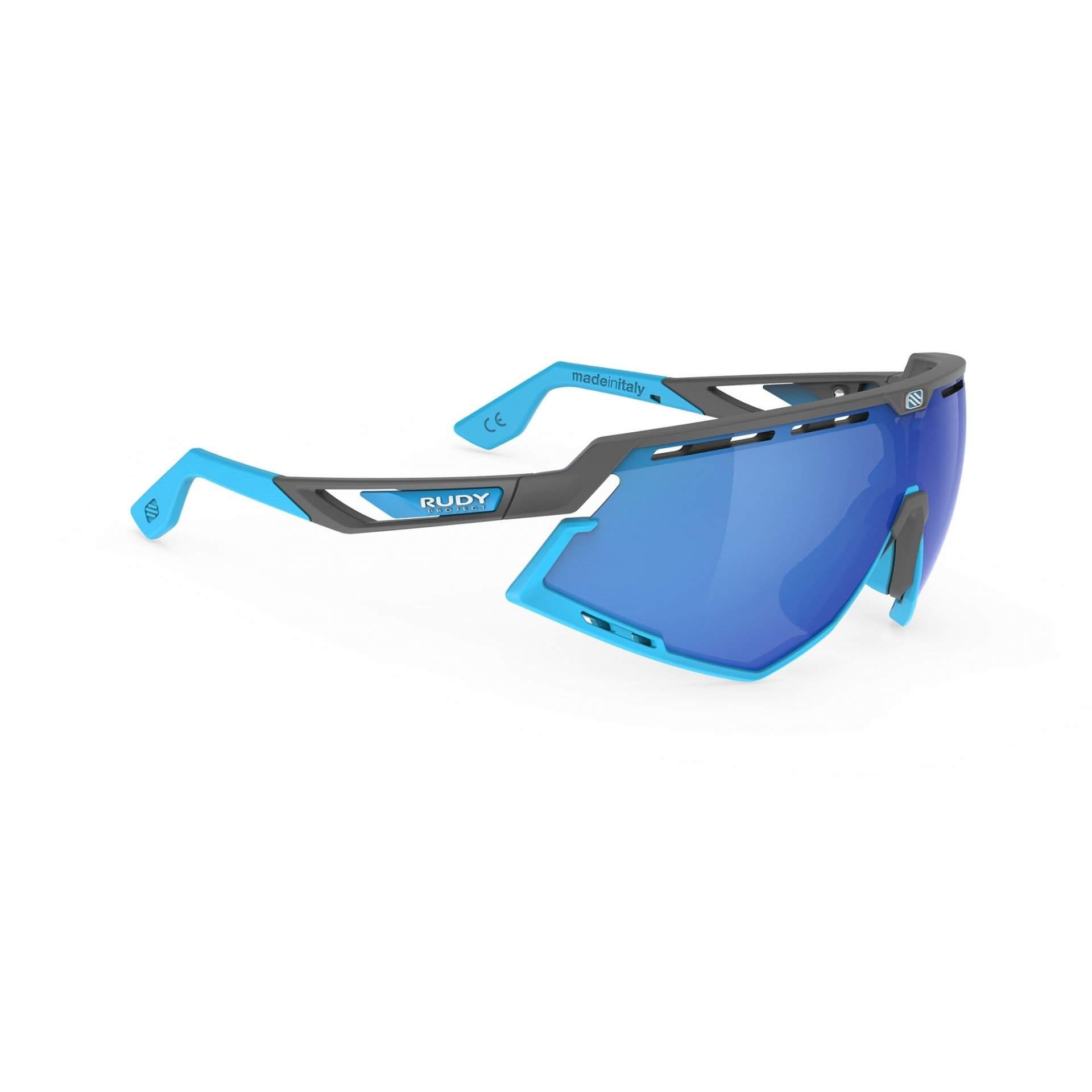 OKULARY RUDY PROJECT DEFENDER MULTILASER BLUE + GGREY|BUMPERS AZUR SP5239750002