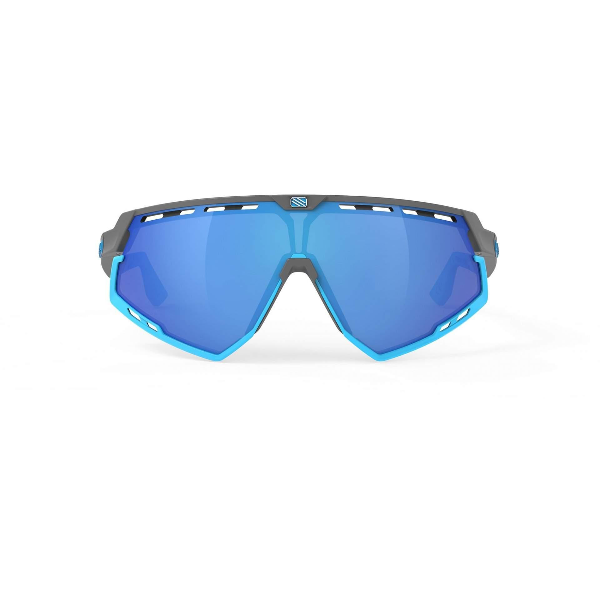 OKULARY RUDY PROJECT DEFENDER MULTILASER BLUE + GGREY|BUMPERS AZUR SP5239750002 Z PRZODU