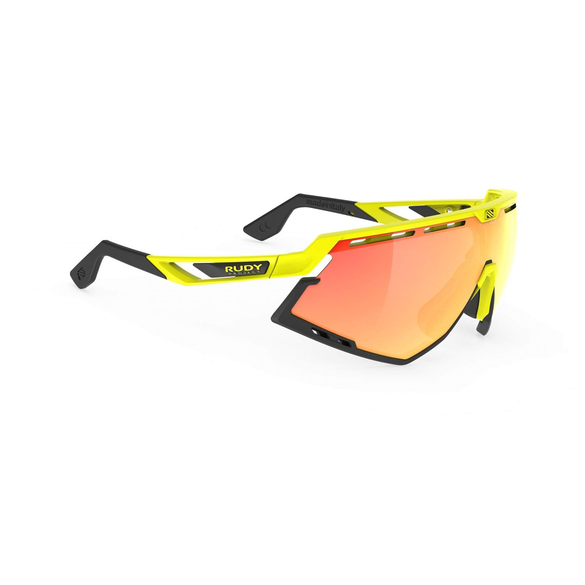 OKULARY RUDY PROJECT DEFENDER MULTILASER ORANGE + YELLOW FLUO GLOSS|BUMPERS BLACK SP5240760000