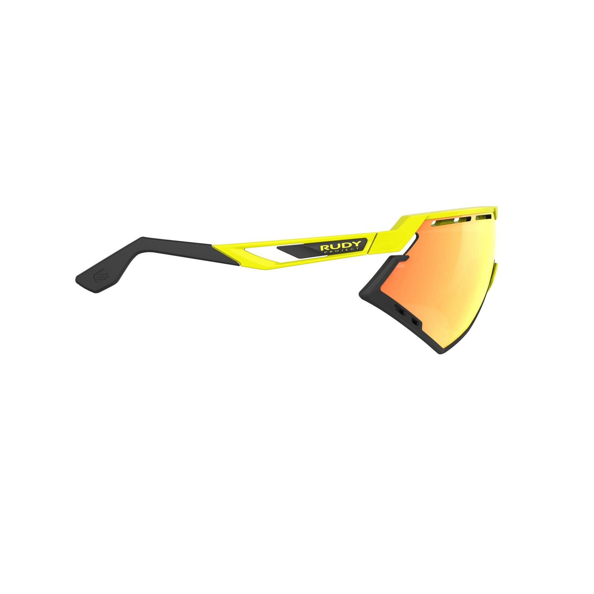 OKULARY RUDY PROJECT DEFENDER MULTILASER ORANGE + YELLOW FLUO GLOSS|BUMPERS BLACK SP5240760000 Z BOKU