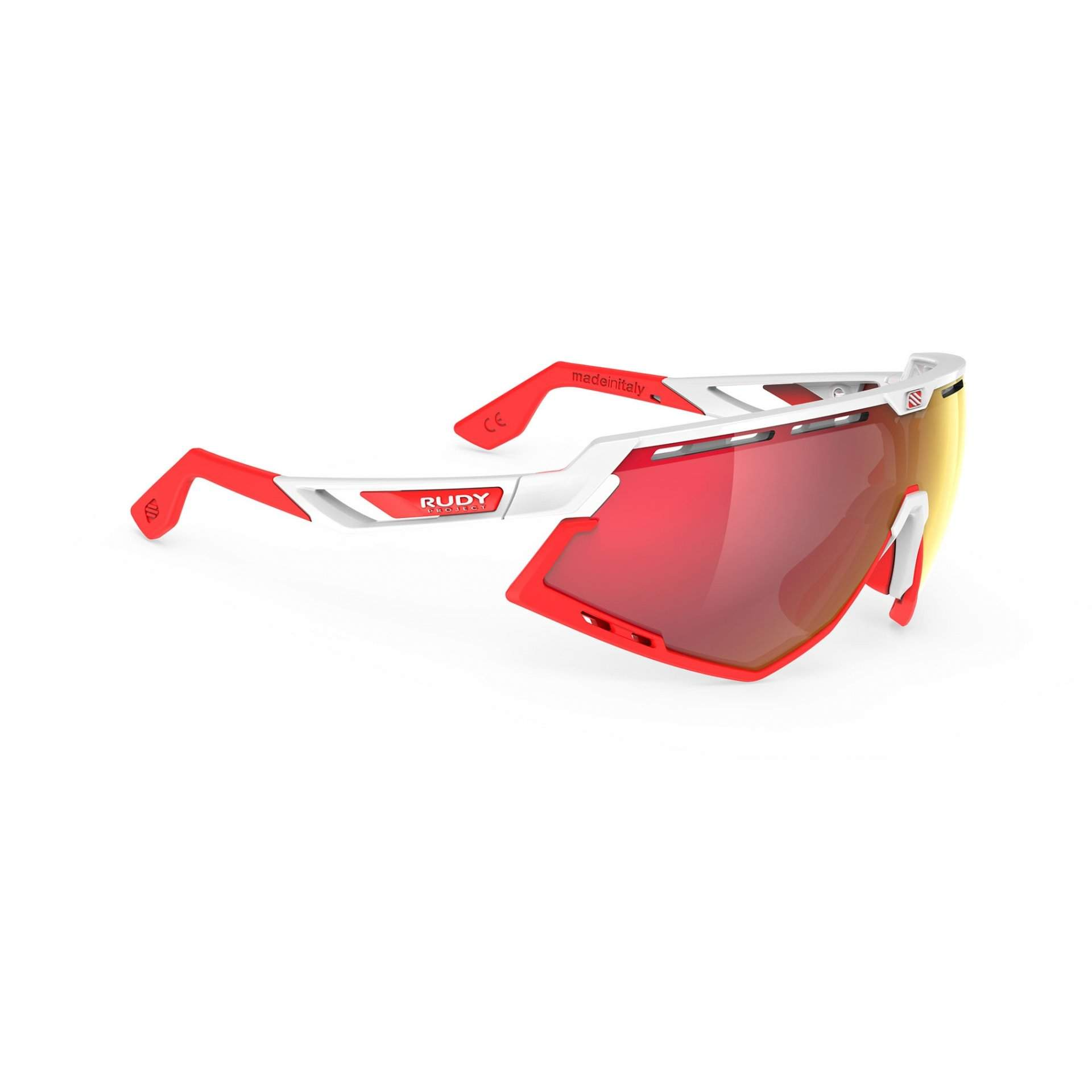 OKULARY RUDY PROJECT DEFENDER MULTILASER RED + WHITE GLOSS|BUMPRES RED FLUO SP5238690000