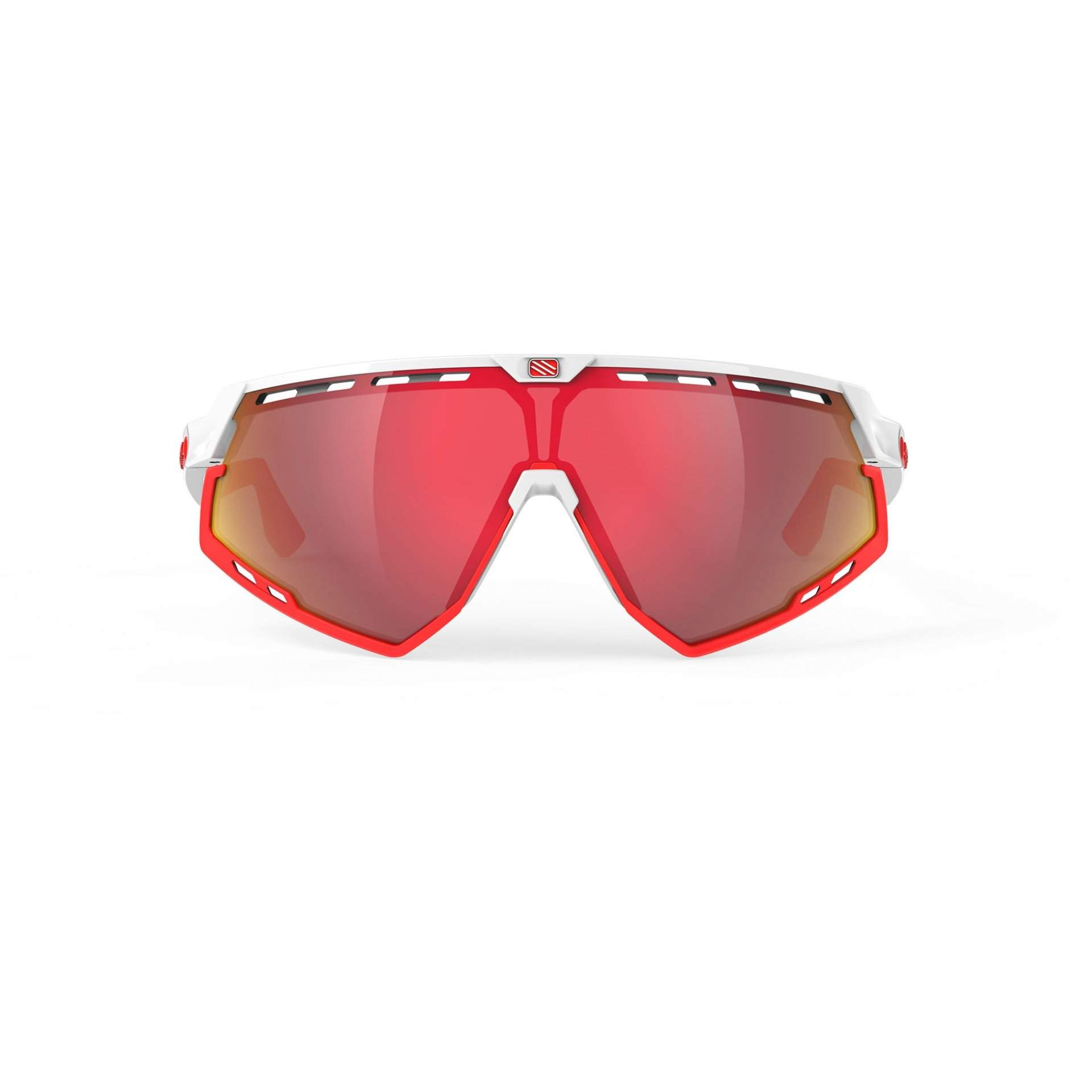 OKULARY RUDY PROJECT DEFENDER MULTILASER RED + WHITE GLOSS|BUMPRES RED FLUO SP5238690000 Z PRZODU