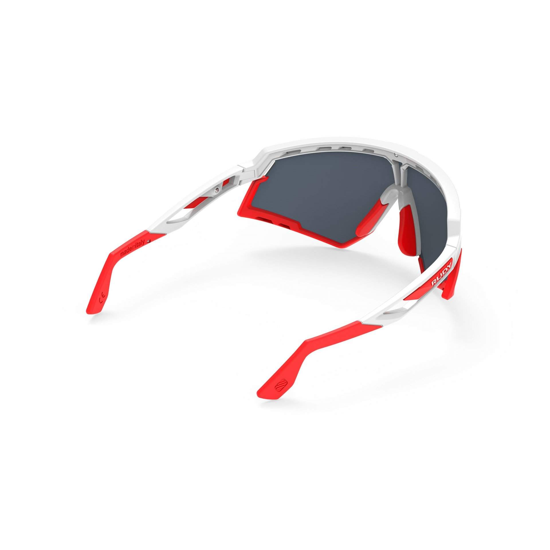 OKULARY RUDY PROJECT DEFENDER MULTILASER RED + WHITE GLOSS|BUMPRES RED FLUO SP5238690000 Z TYŁU