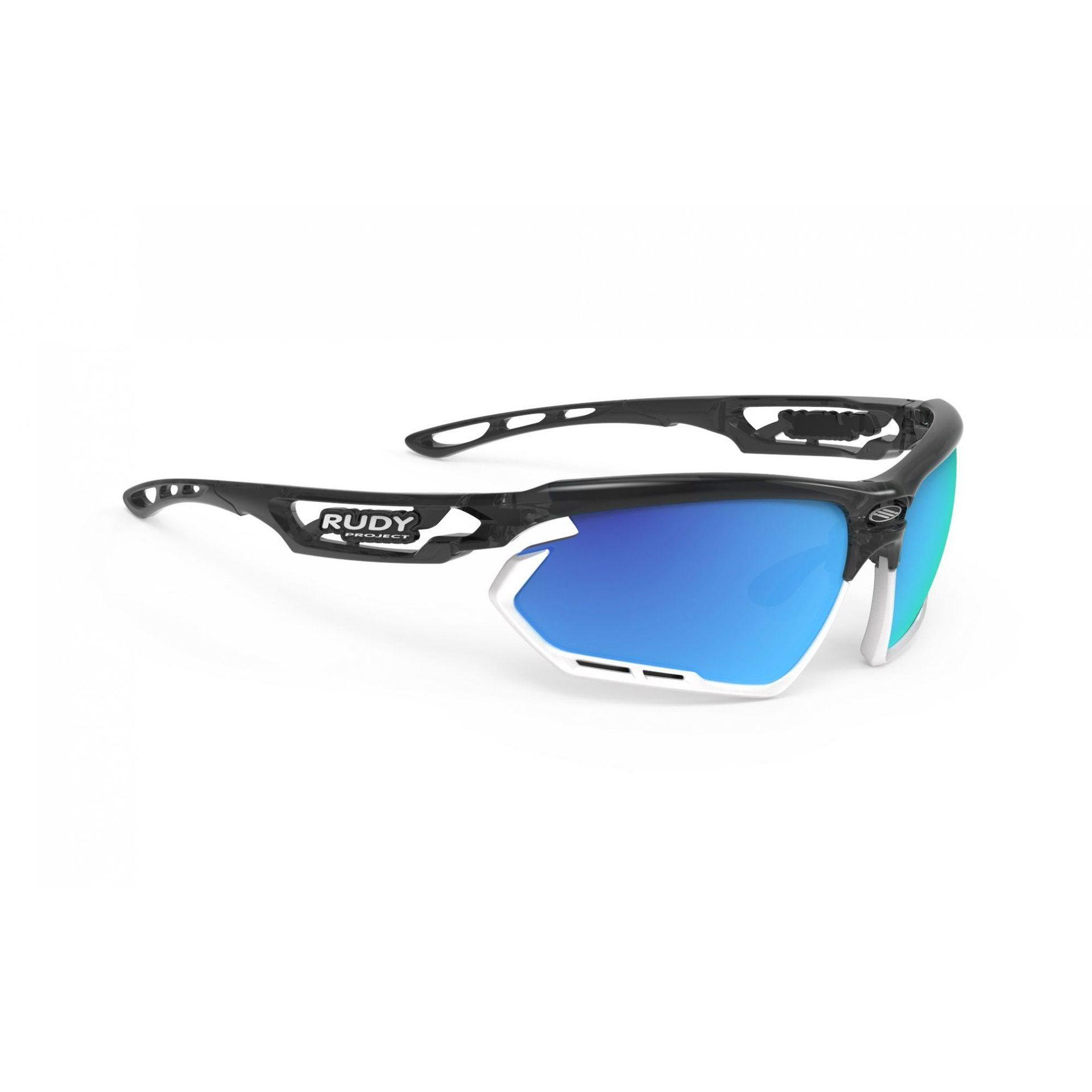 OKULARY RUDY PROJECT FOTONYK GRAPHITE|WHITE + ML BLUE SP453995 1