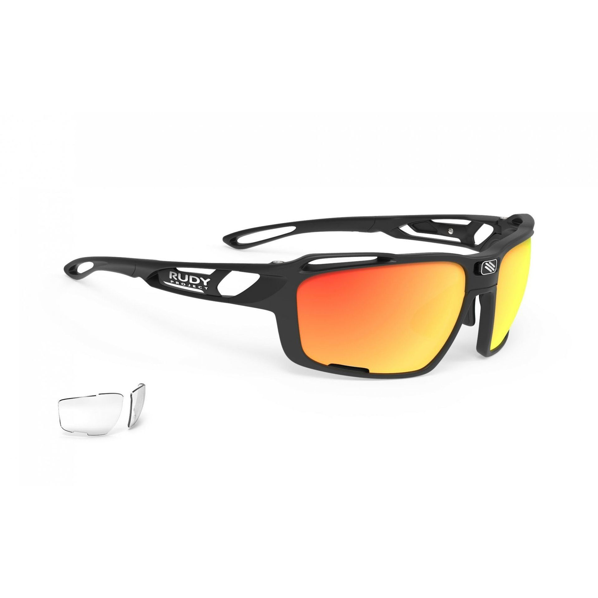 OKULARY RUDY PROJECT SINTRYX BLACK + ML ORANGE|SMOKE|TRANS SP494006 1