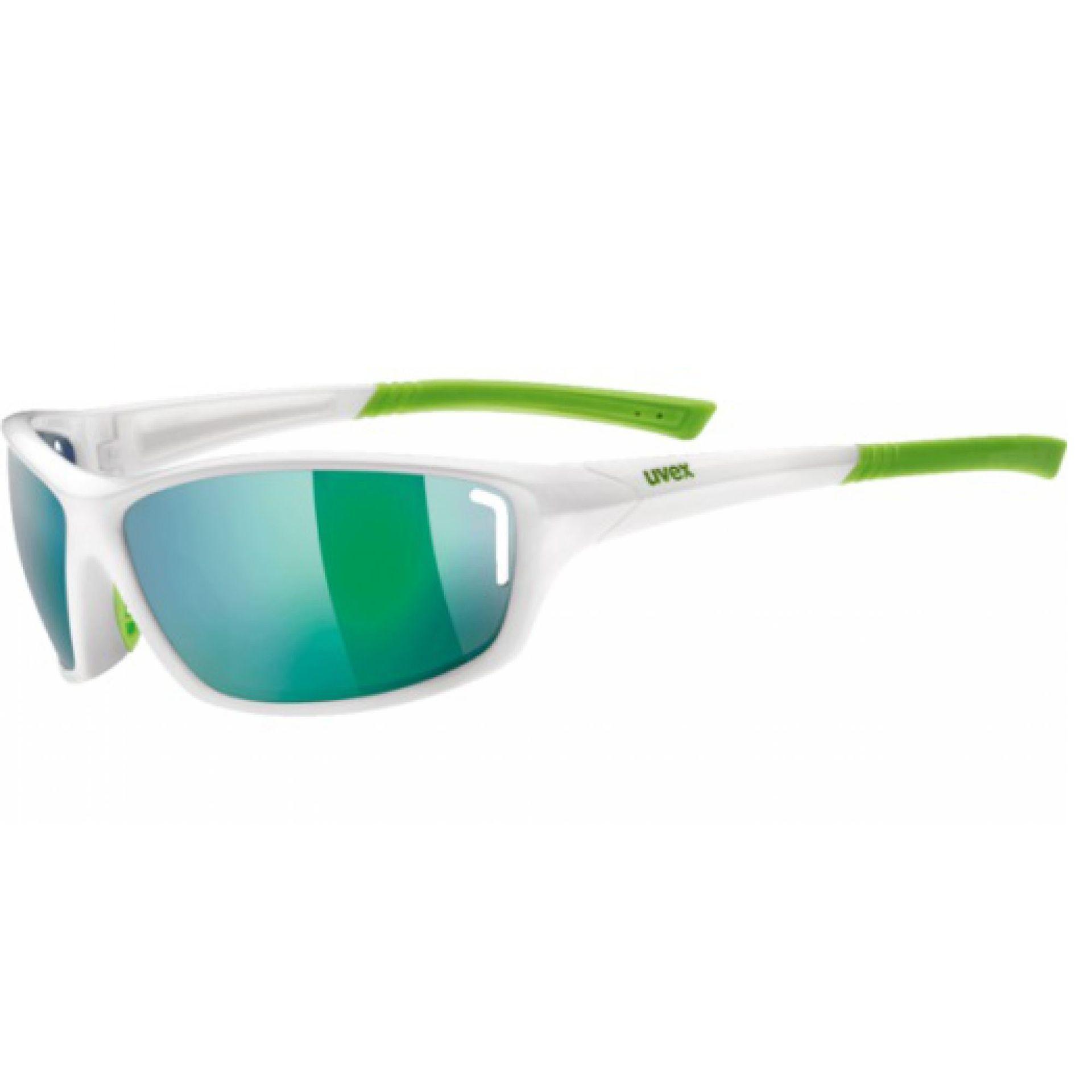 OKULARY UVEX SPORTSTYLE 210 WHITE GREEN