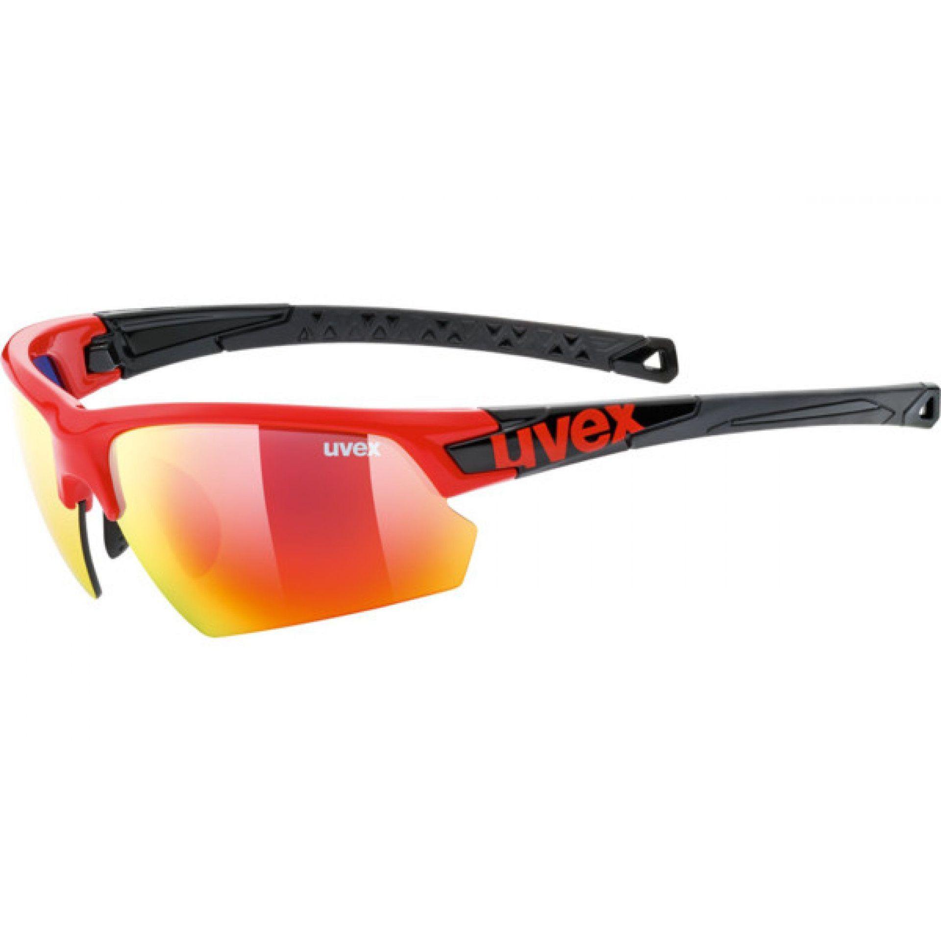 OKULARY UVEX SPORTSTYLE 224 007|3216 RED|BLACK