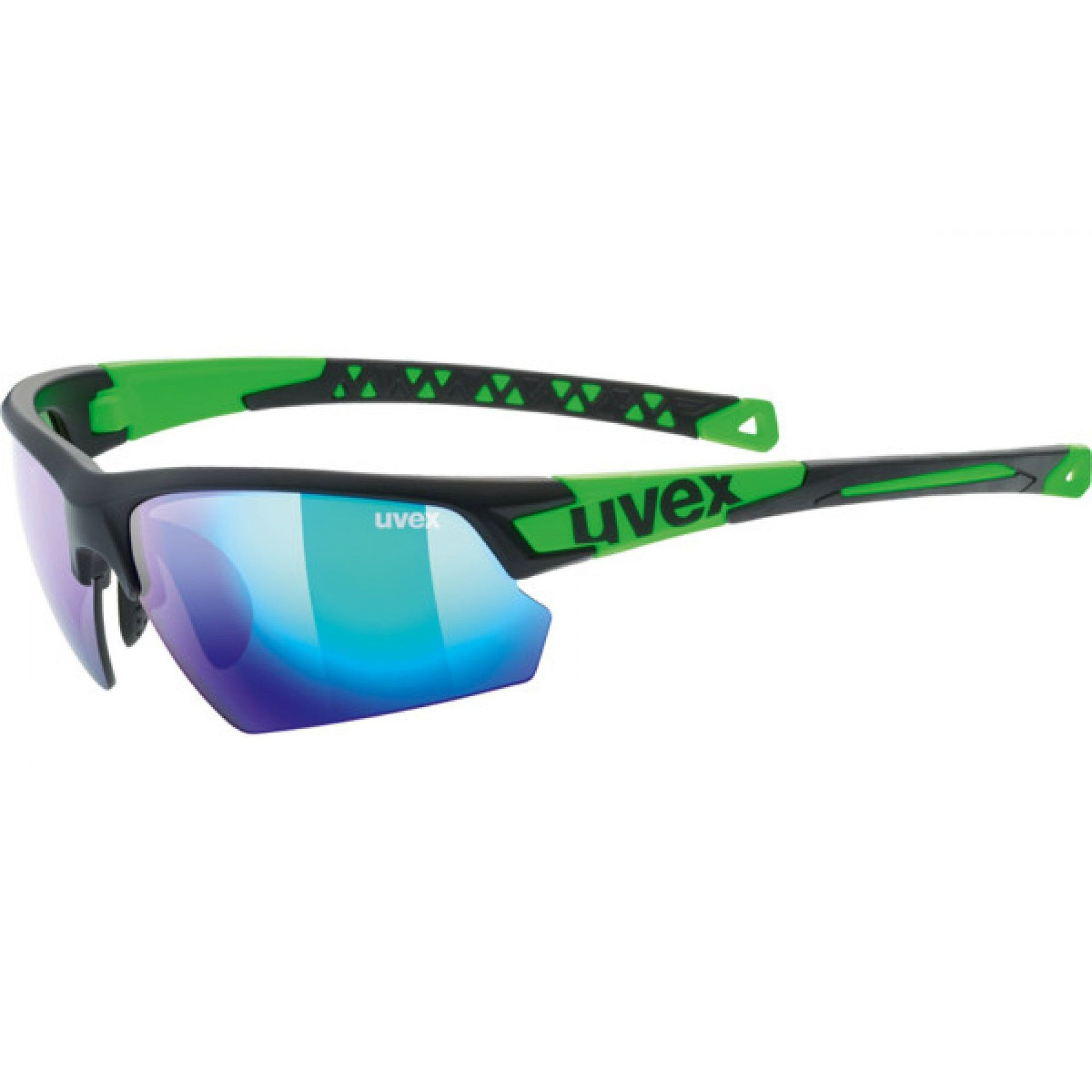 OKULARY UVEX SPORTSTYLE 224 007|2716 BLACK MAT|GREEN