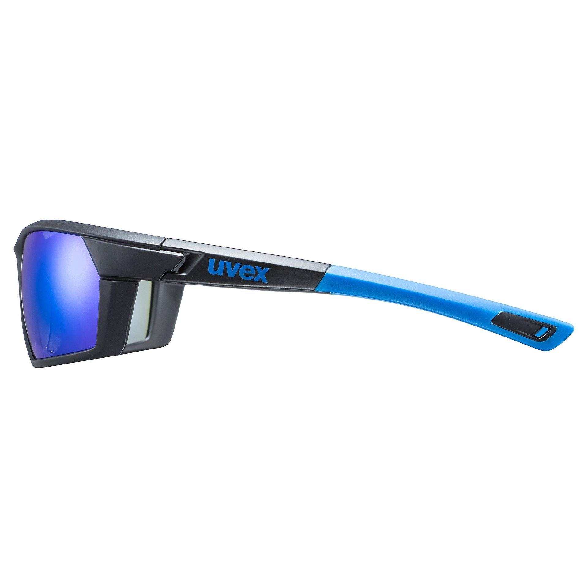 OKULARY UVEX SPORTSTYLE 225 BLACK BLUE MAT BOK