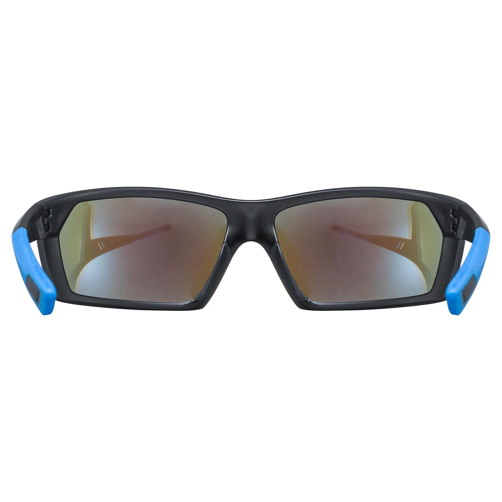 OKULARY UVEX SPORTSTYLE 225 BLACK BLUE MAT WNĘTRZE