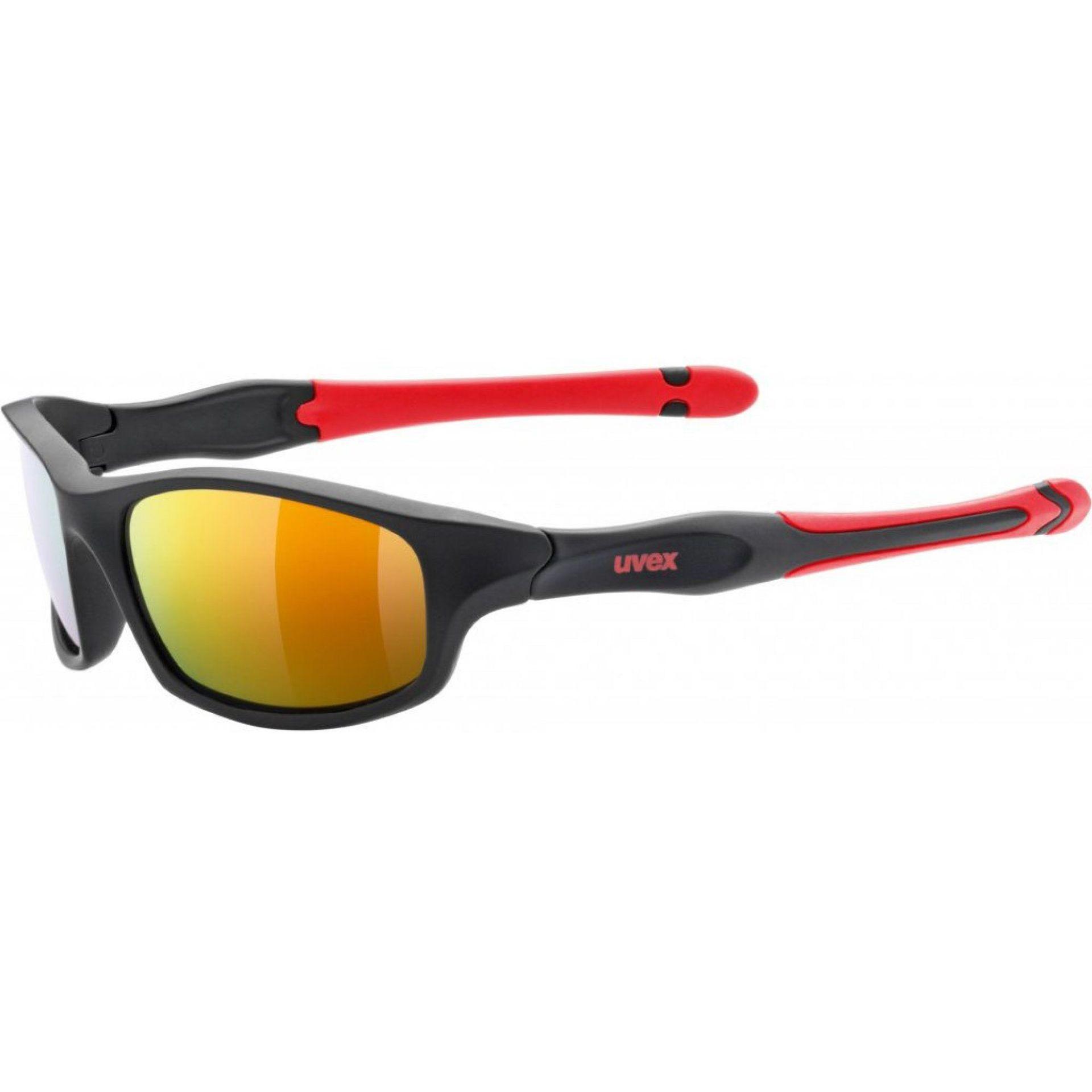 OKULARY UVEX SPORTSTYLE 507 BLACK MAT RED
