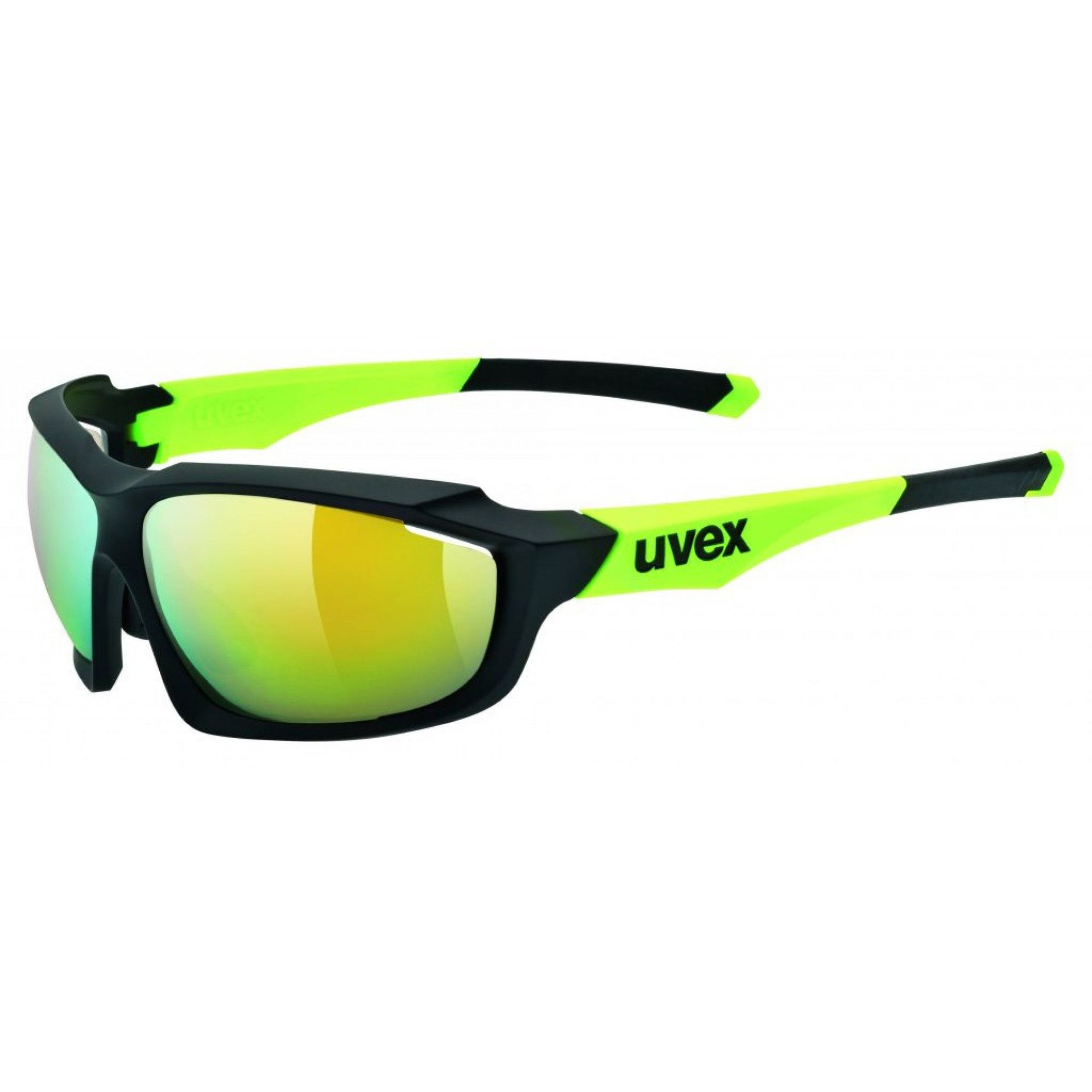 OKULARY UVEX SPORTSTYLE 710 BLACK MAT YELLOW