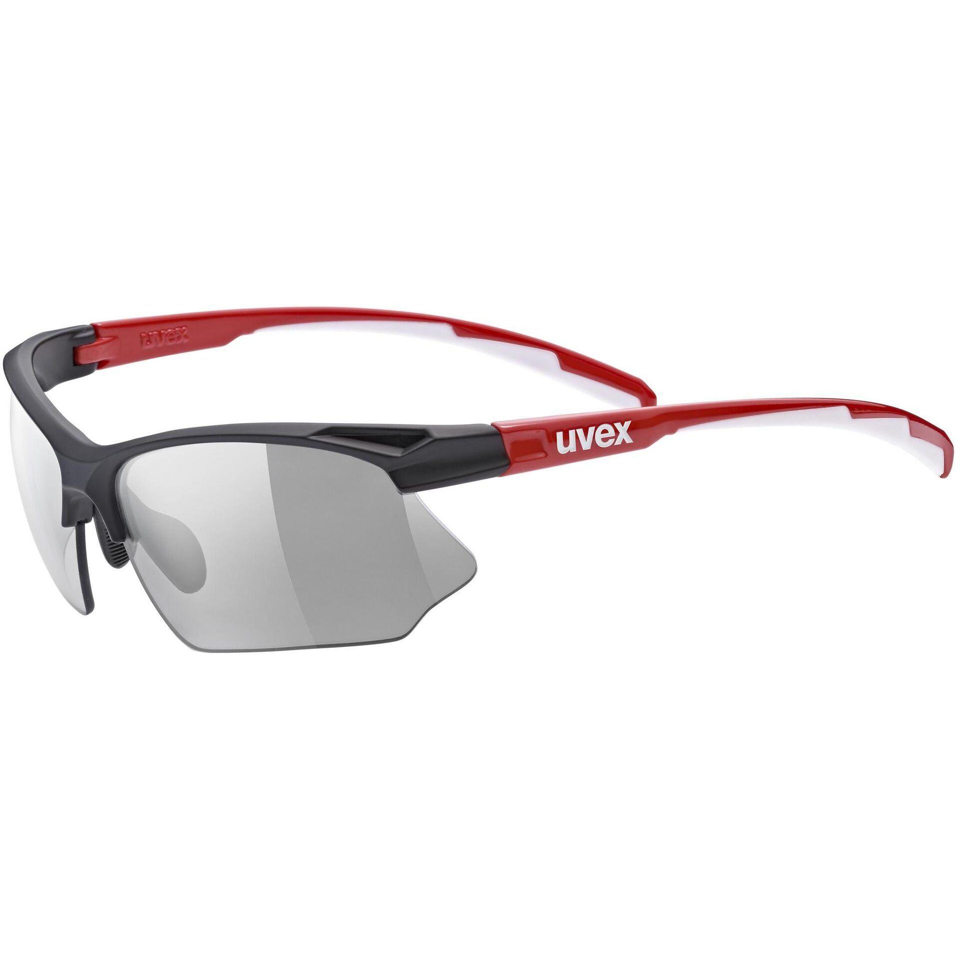 OKULARY UVEX SPORTSTYLE 802 V BLACK RED