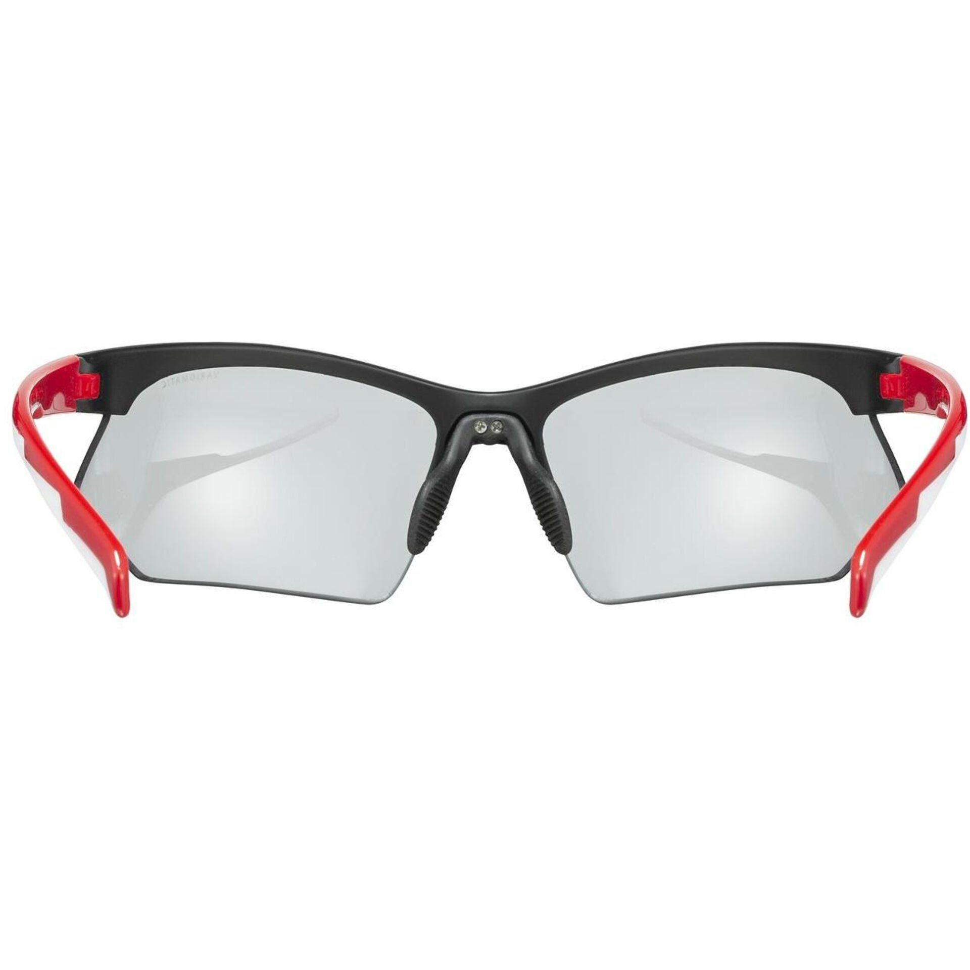 OKULARY UVEX SPORTSTYLE 802 V BLACK RED WNĘTRZE