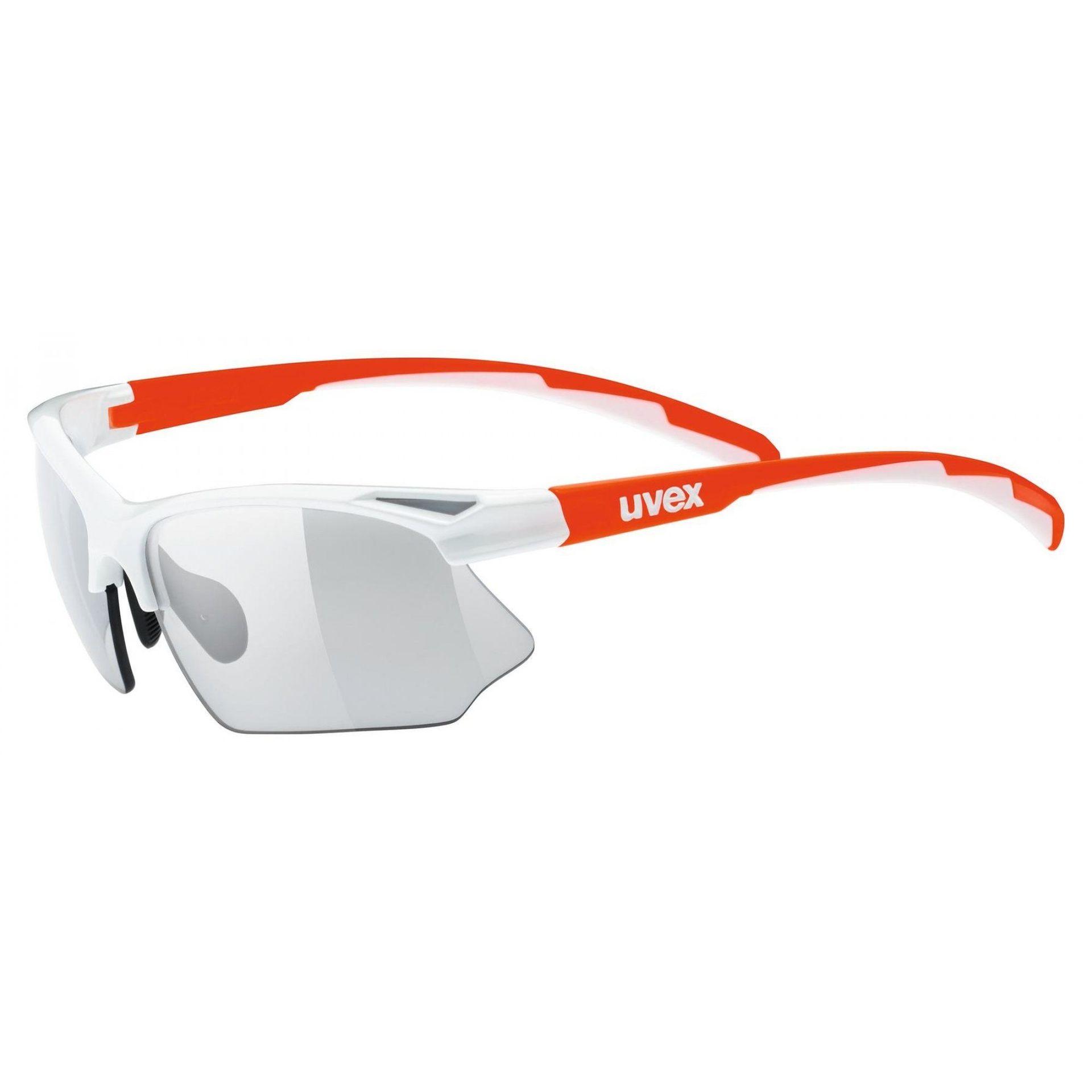 OKULARY UVEX SPORTSTYLE 802 V WHITE ORANGE