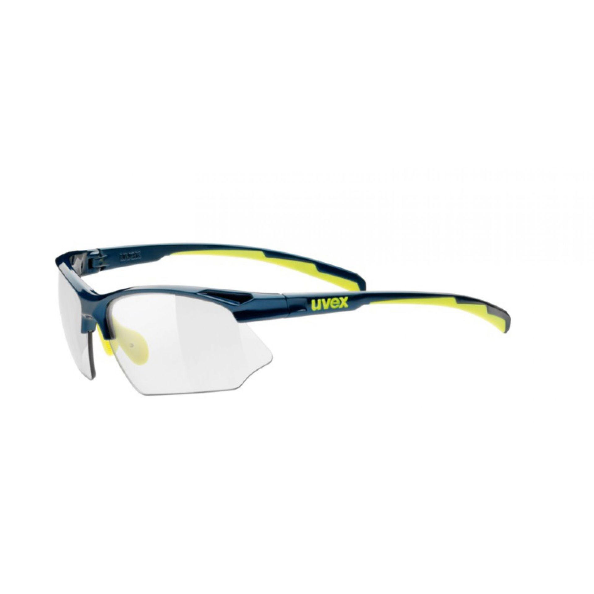 OKULARY UVEX SPORTSTYLE 802 VARIO DARK BLUE YELLOW