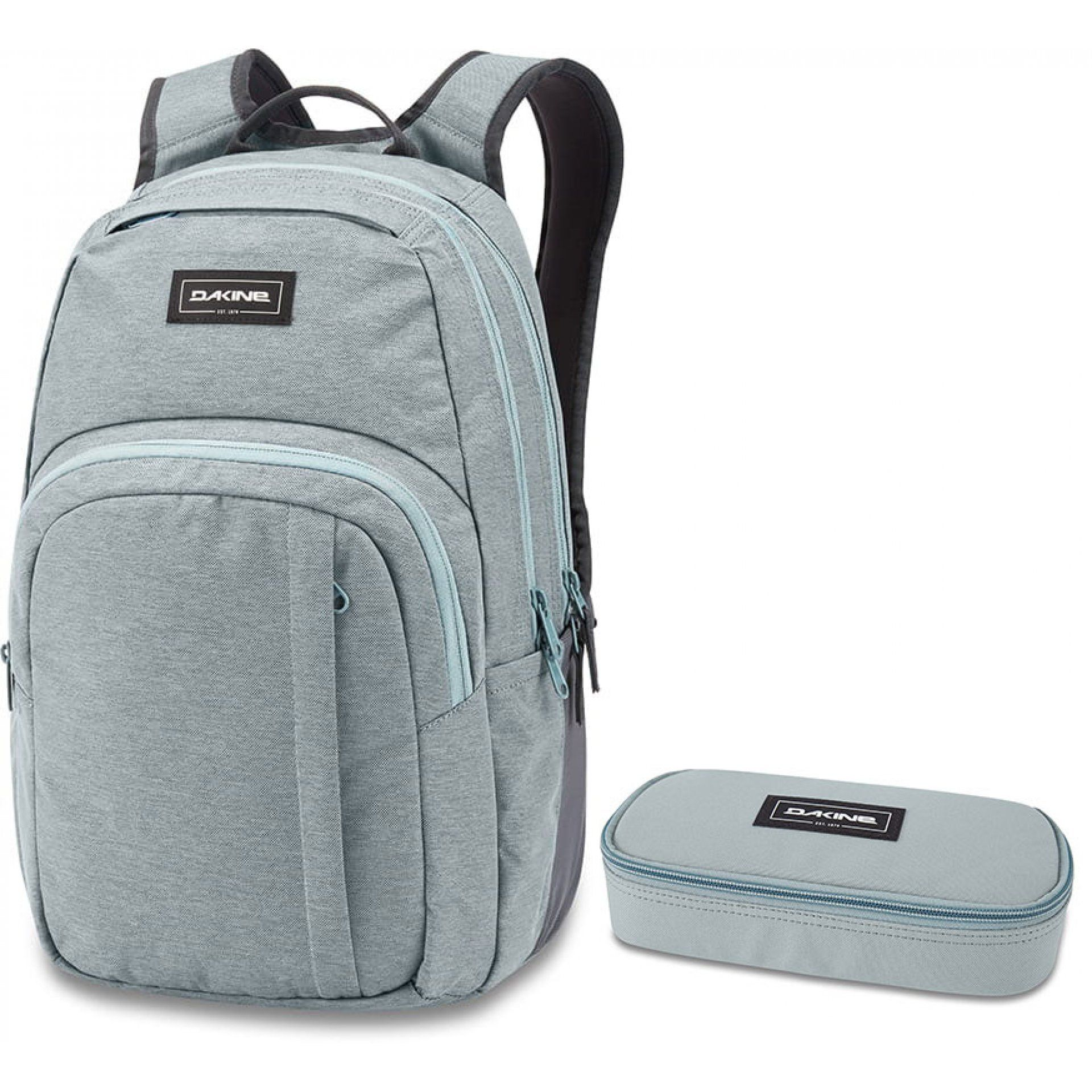 PLECAK DAKINE CAMPUS 25L + PIÓRNIK SCHOOL CASE LEAD BLUE