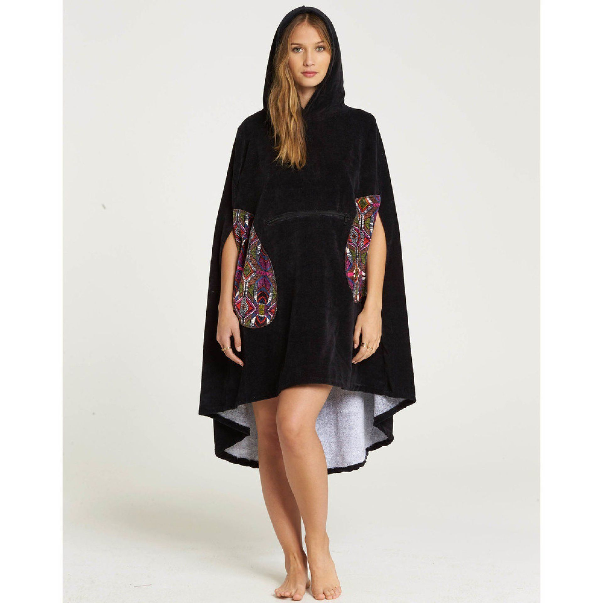PONCHO BILLABONG HOODED TOWEL BLACK