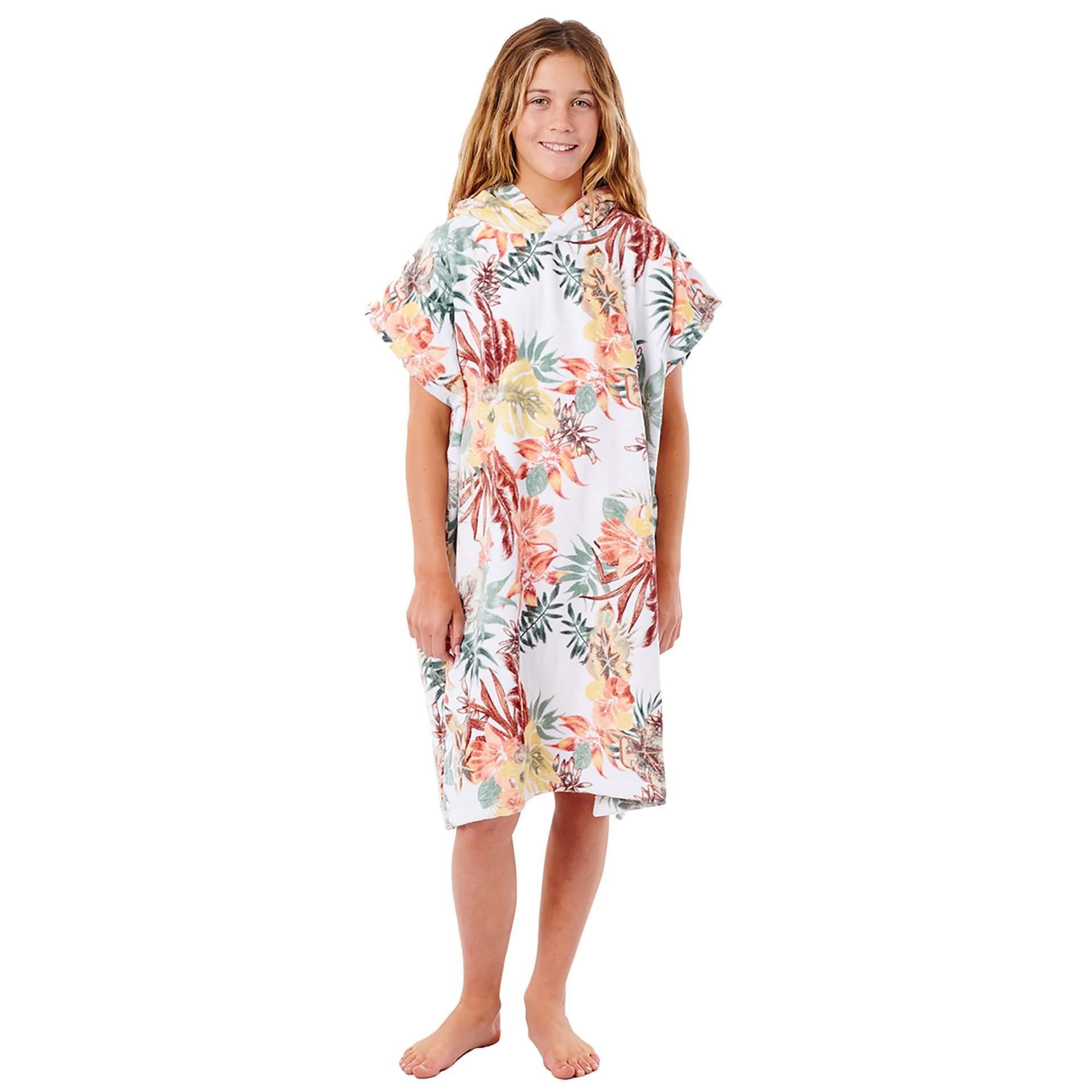 PONCHO RĘCZNIK RIP CURL TALLOWS HOOD TOWEL GIRL JTWAG1 1000 WHITE