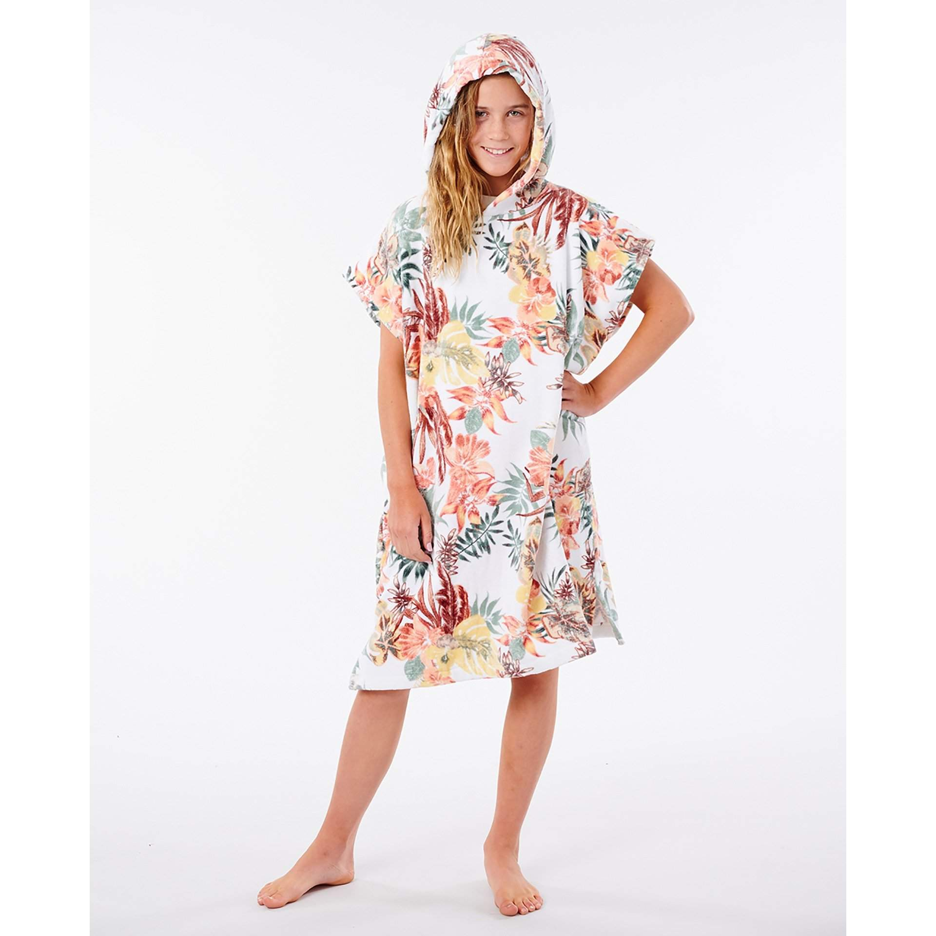 PONCHO RĘCZNIK RIP CURL TALLOWS HOOD TOWEL GIRL JTWAG1 1000 WHITE W KAPTURZE