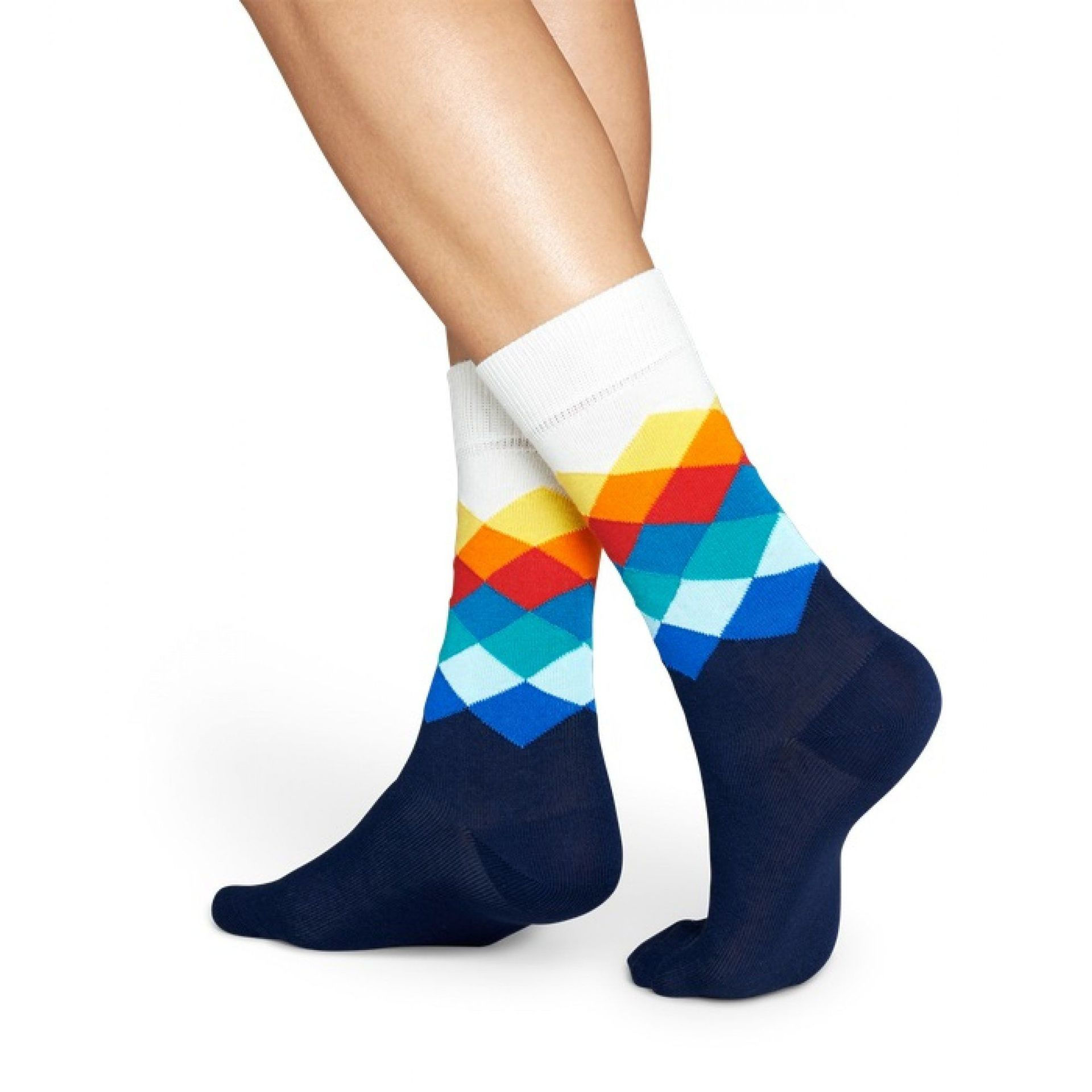 SKARPETKI HAPPY SOCKS FADED DIAMOND SOCK FD01-105