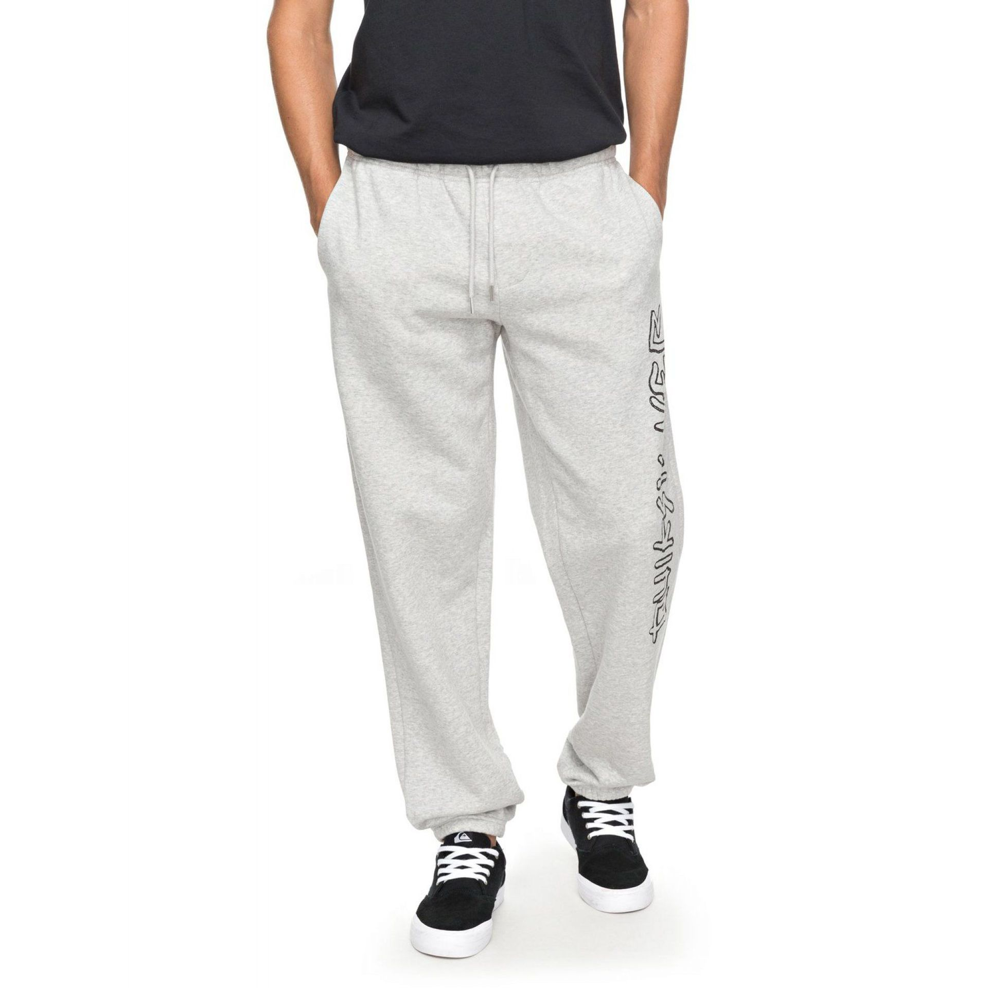 SPODNIE QUIKSILVER TRACKSUIT BOTTOMS LIGHT GREY HEATHER