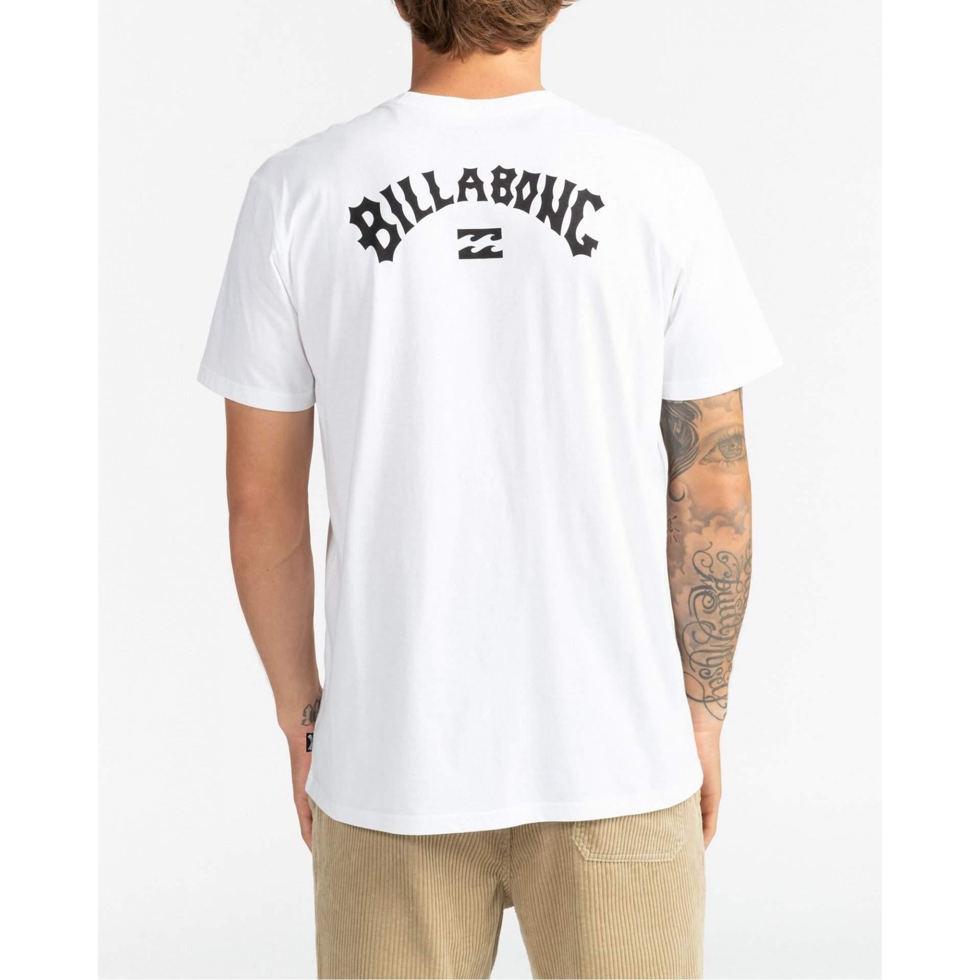 T-SHIRT BILLABONG ARCH WAVE 10 WHITE NA MODELU