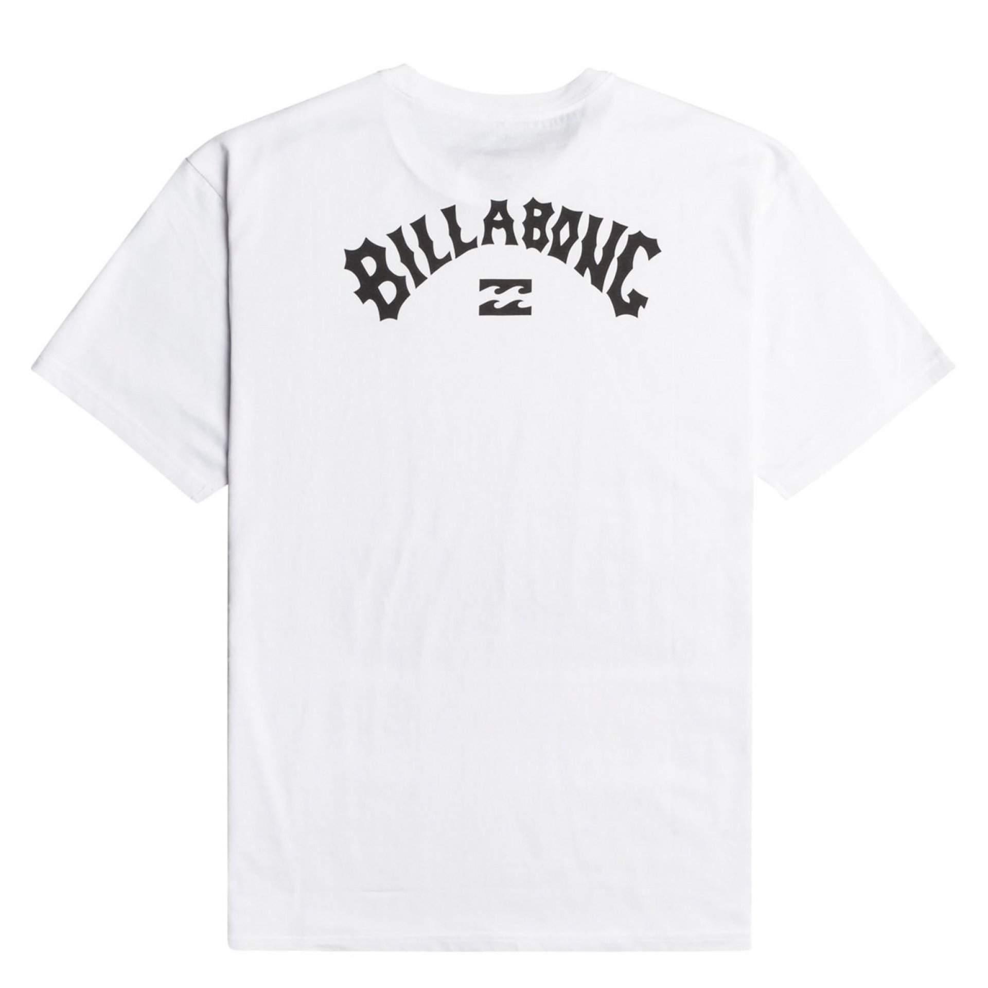 T-SHIRT BILLABONG ARCH WAVE 10 WHITE Z TYŁU