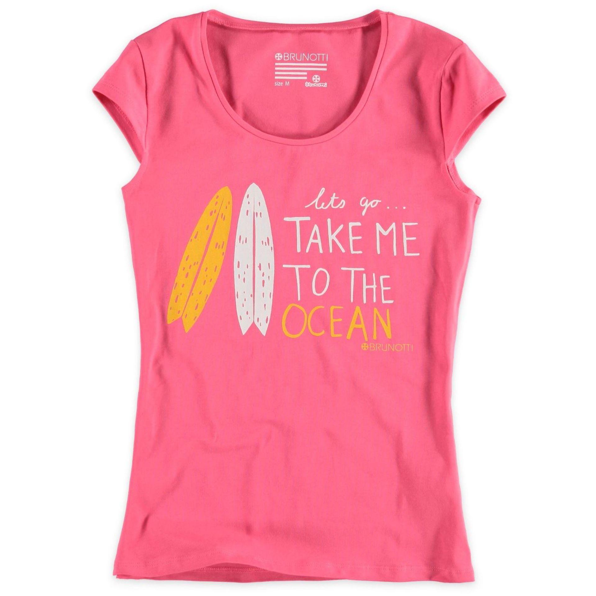 T-shirt Brunotti Baaij Różowy