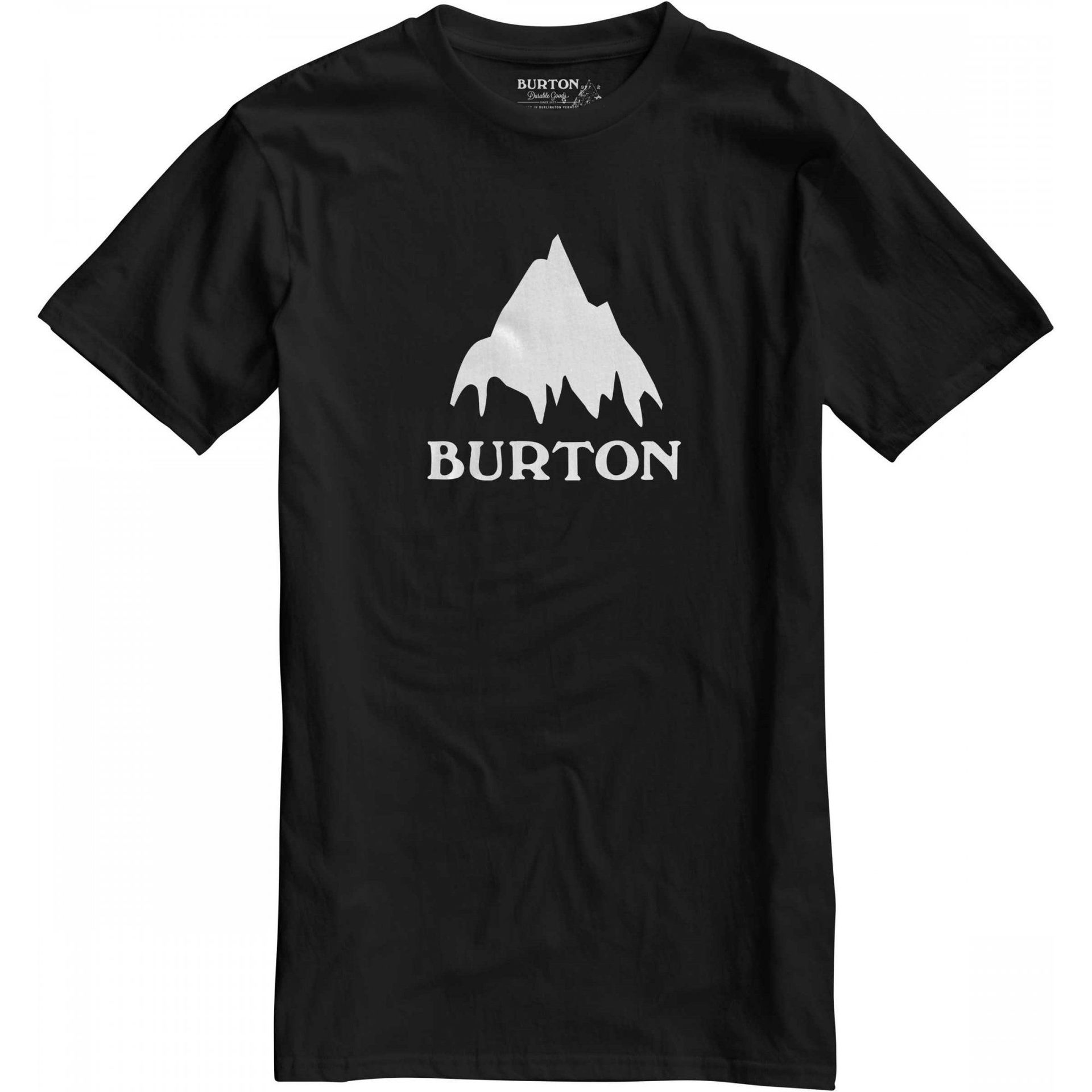 T-SHIRT BURTON CLASSIC MOUNTAIN SHORT SLEEVER TRUE BLACK