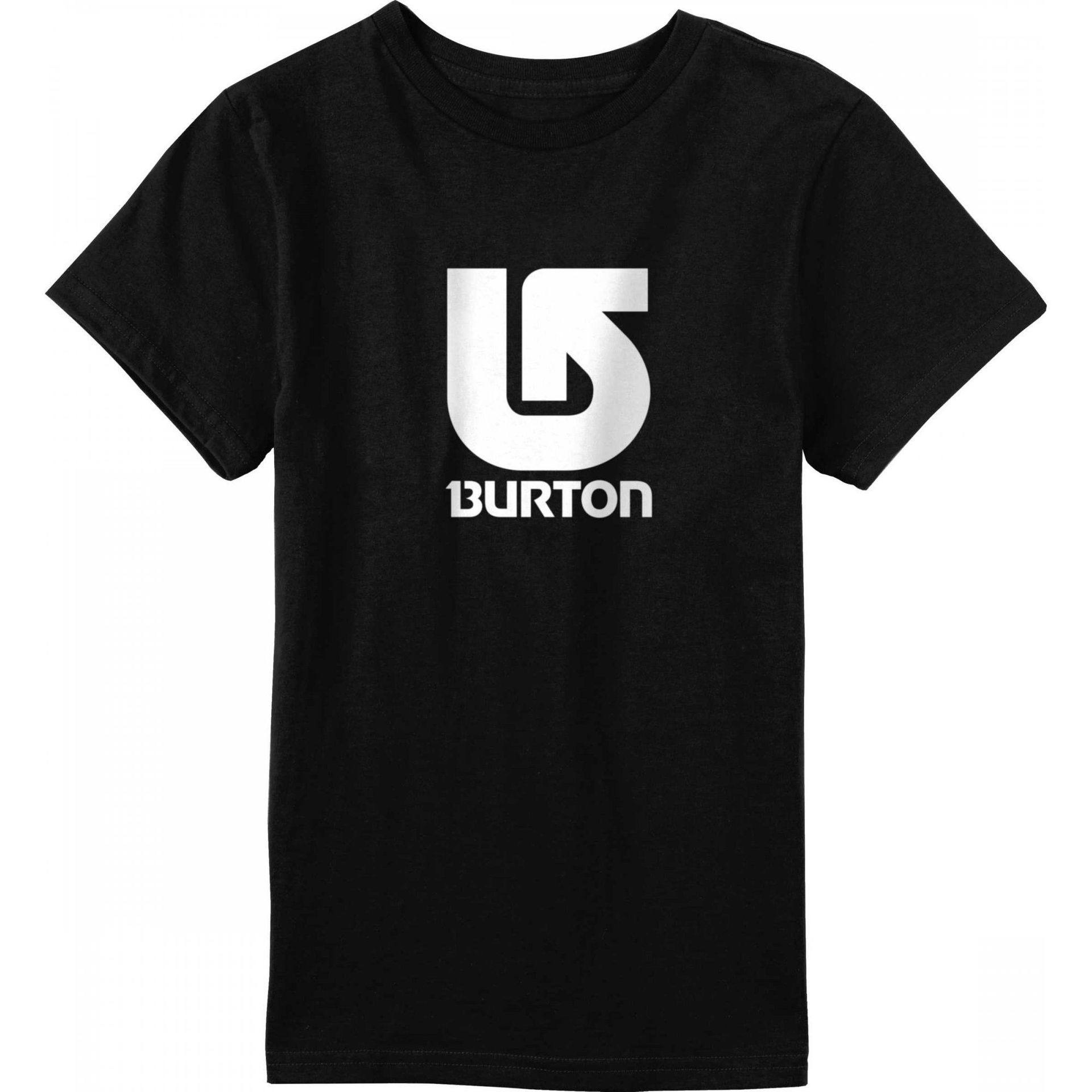 T-SHIRT BURTON LOGO VERTICAL TRUE BLACK