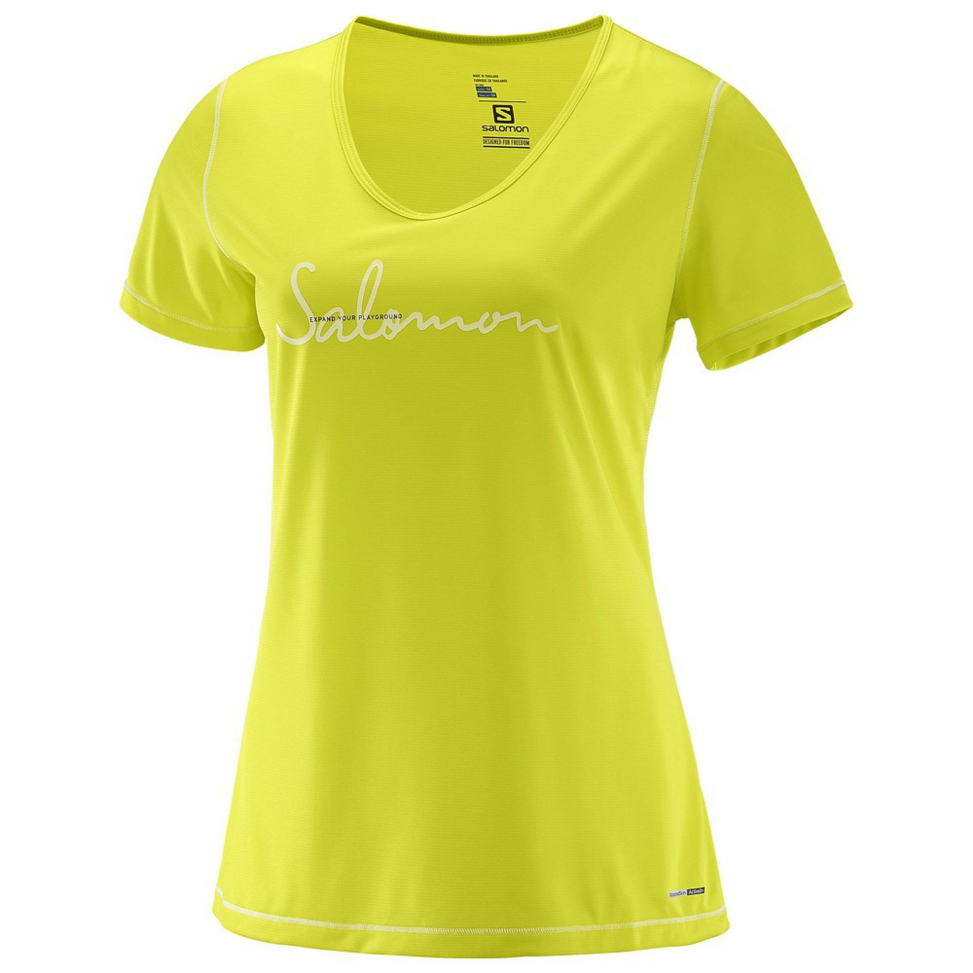 T-SHIRT SALOMON MAZY GRAPHIC SULPHUR