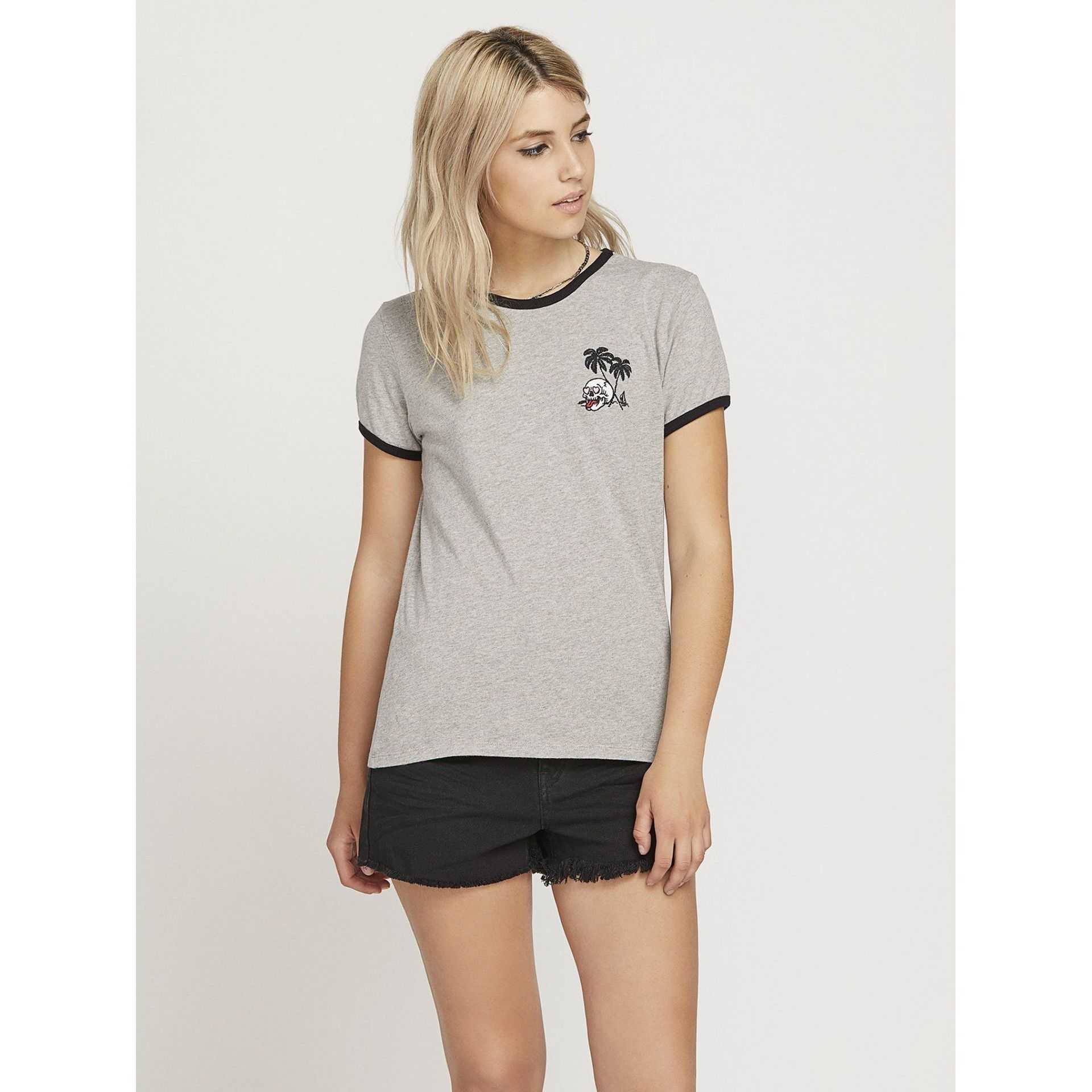 T-SHIRT VOLCOM KEEP GOIN B3511950-HEATHER GREY 1