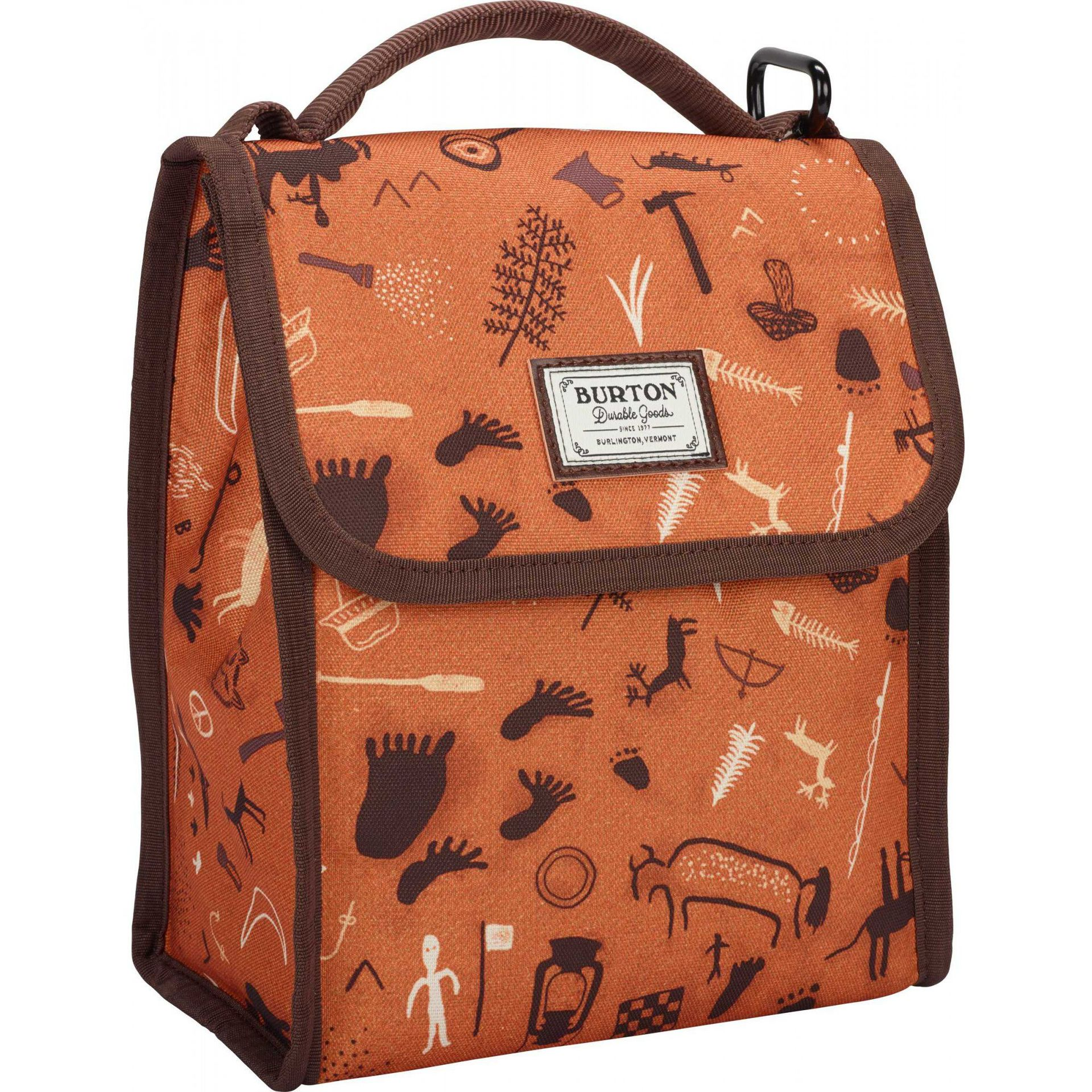 TORBA NA LUNCH BURTON LUNCH SACK CAVEMAN PRINT