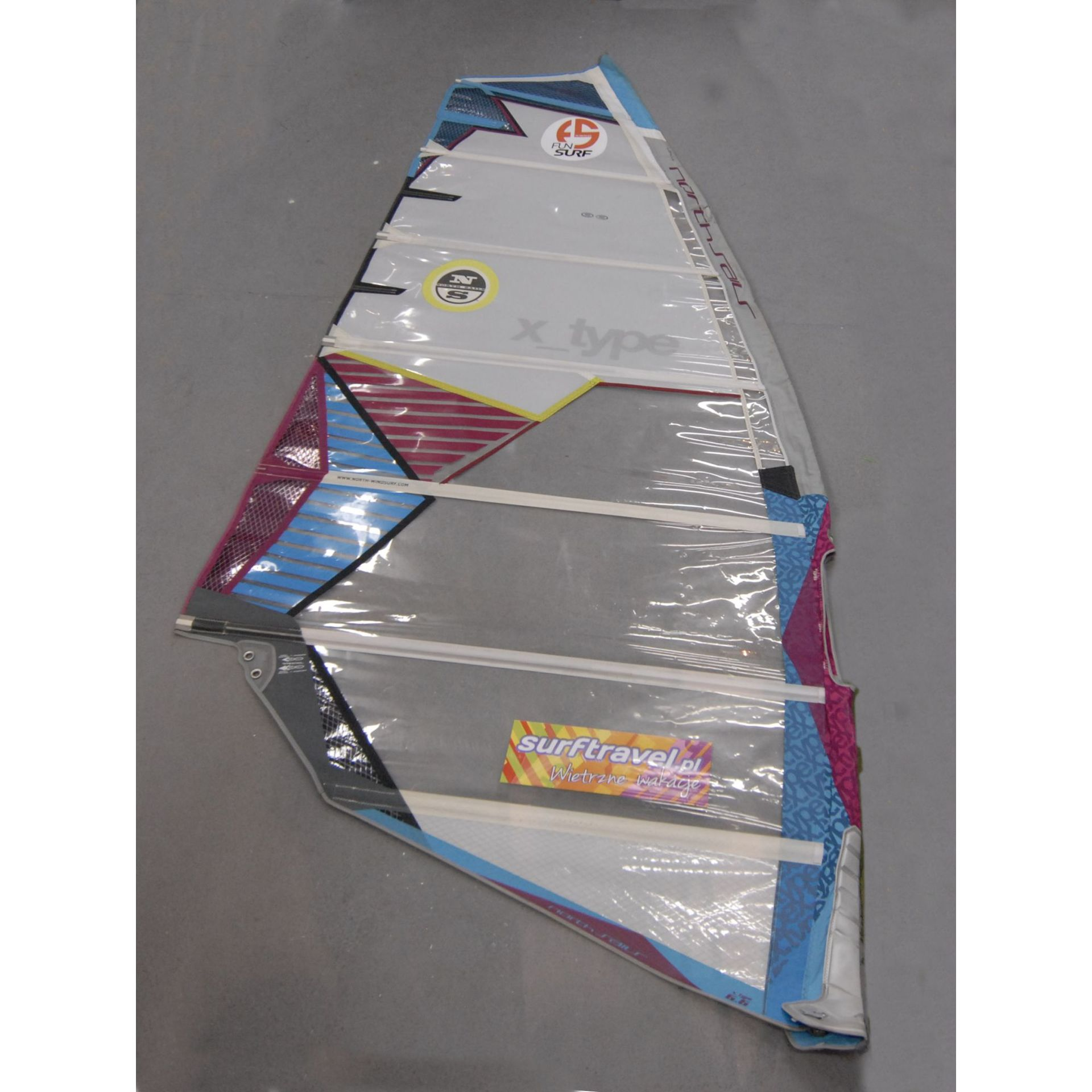 ŻAGIEL WINDSURFINGOWY NORTH SAILS  X-TYPE  2013 6.6 - FREERACE  (156601)
