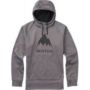 BLUZA BURTON  CROWN BONDED PULLOVER HOODIE  2017 SZARY
