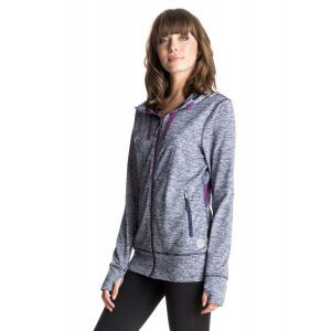 BLUZA ROXY EZ DOES IT ZIP-UP HOODIE 2016 GRANATOWY|FIOLETOWY