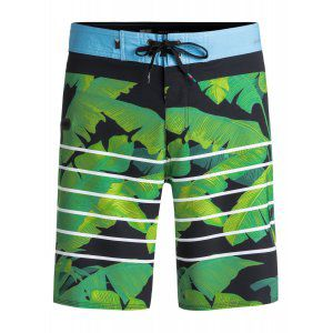 BOARDSHORTY QUIKSILVER  HIGHLINE ISLAND TIME  2018 ZIELONY