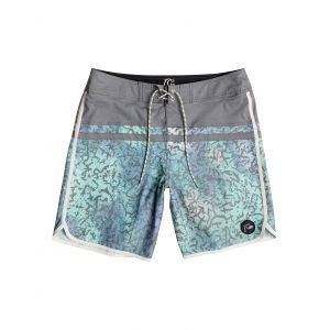 BOARDSHORTY QUIKSILVER STOMP CRACKED SCALLOP 18 2016 ZIELONY|NIEBIESKI