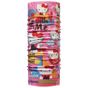 CHUSTA BUFF ORIGINAL JUNIOR HELLO KITTY WONDERLAND PINK WIELOKOLOROWY