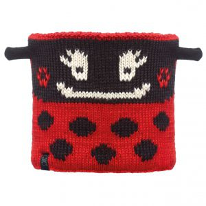 KOMIN BUFF CHILD NECKWARMER KNITTED POLAR LADYBUG|BLACK 2016 CZARNY