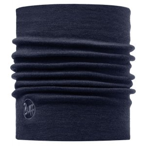 KOMIN BUFF NECKWARMER WOOL THERMAL DENIM BUFF  GRANATOWY