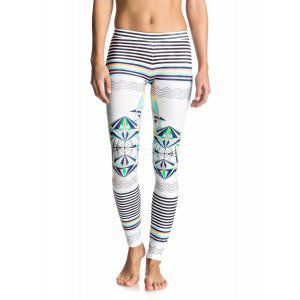 LEGINSY ROXY KEEP IT ROXY SURF LEGGING 2017 BIAŁY|WIELOKOLOROWY