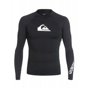 LYCRA QUIKSILVER  ALL TIME LS RASH TANK  2017 CZARNY